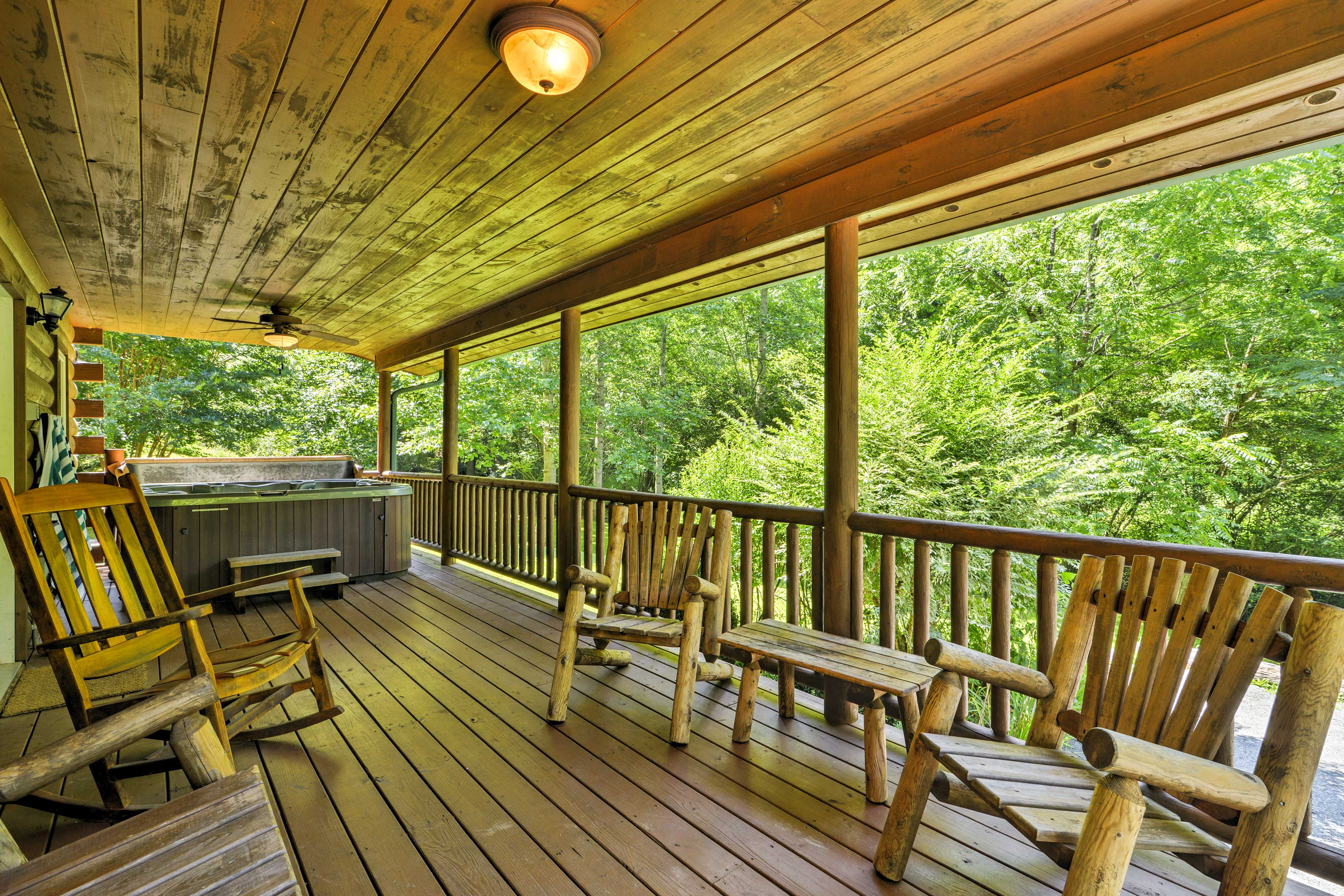 Sip your morning coffee while enjoying the views from the deck.