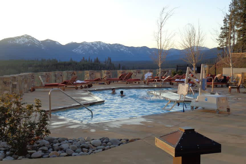 Take a dip in the large community pool!