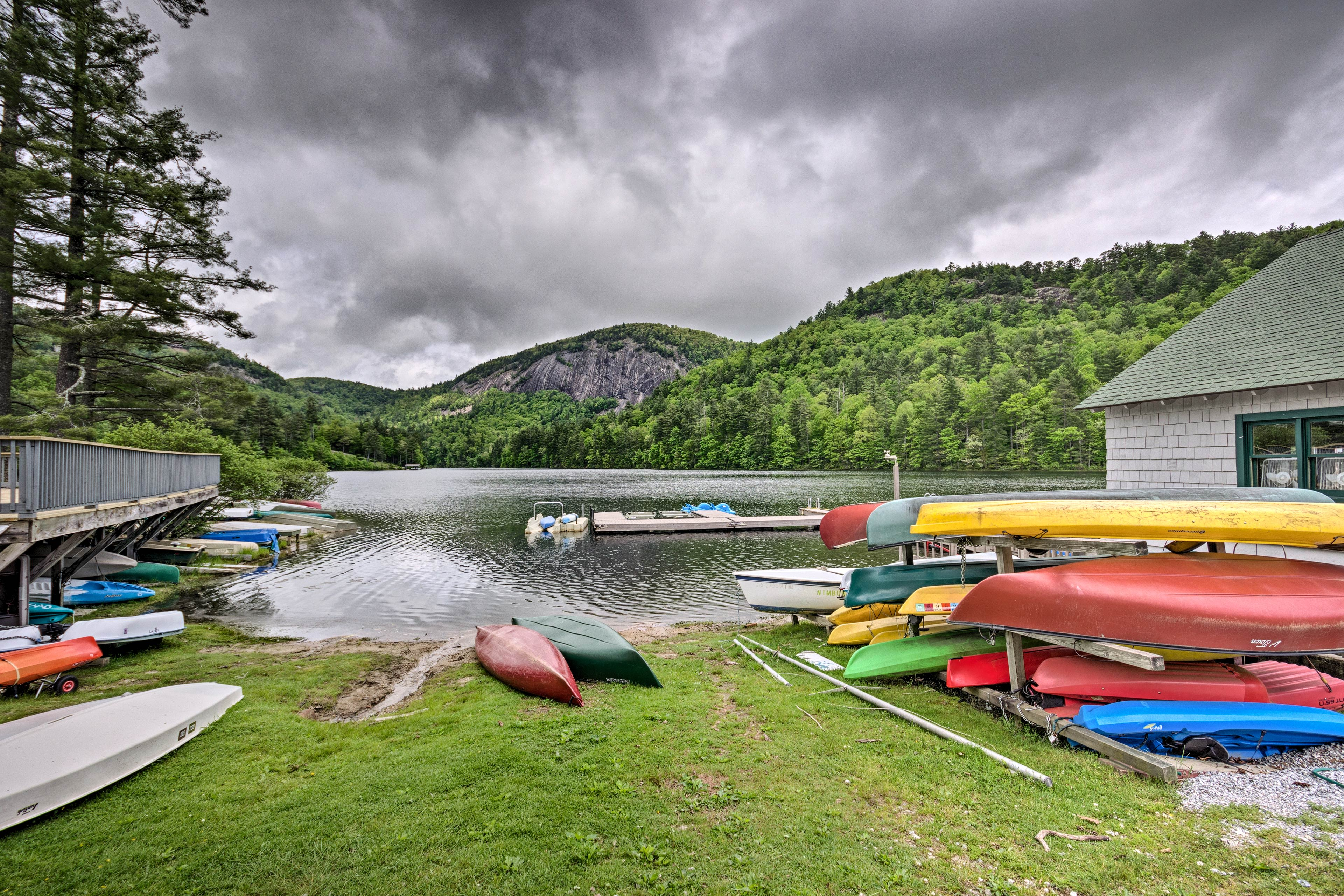 Resort Amenities (w/ Additional Fee) | On-Site Lake | Kayak Rental