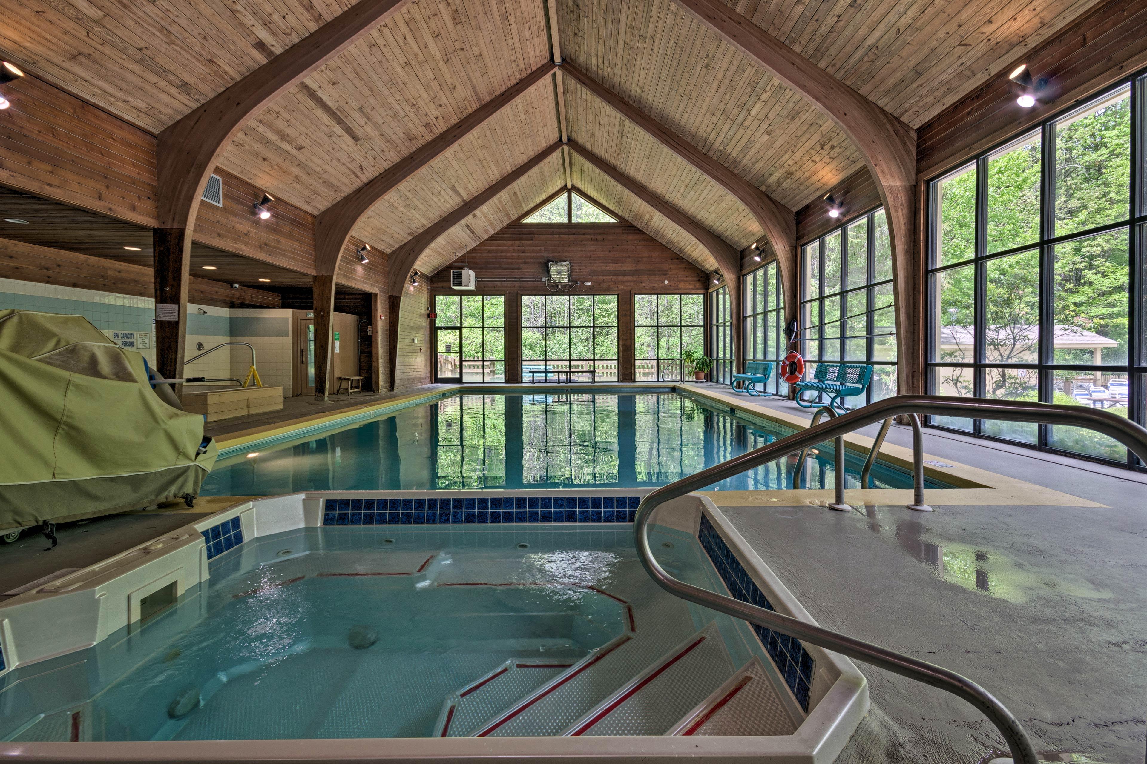 Resort Amenities (w/ Additional Fee) | Indoor Pool & Hot Tub