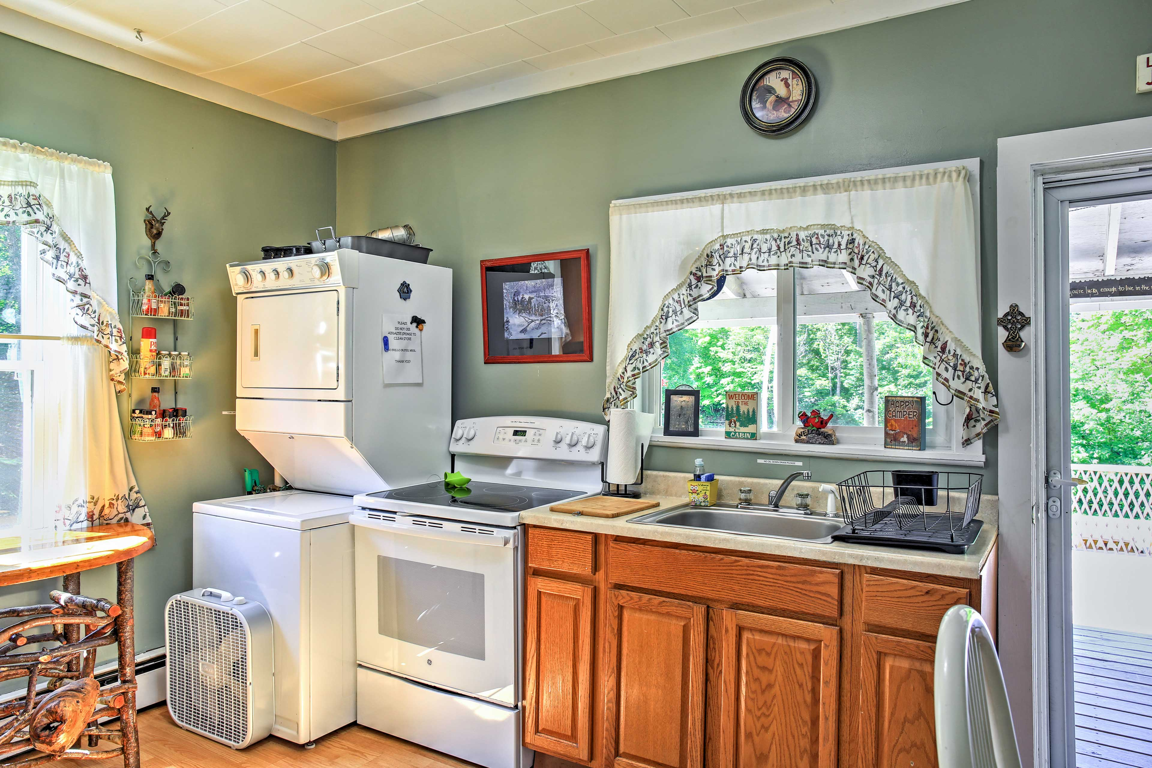 This kitchen has all of the culinary essentials of home!