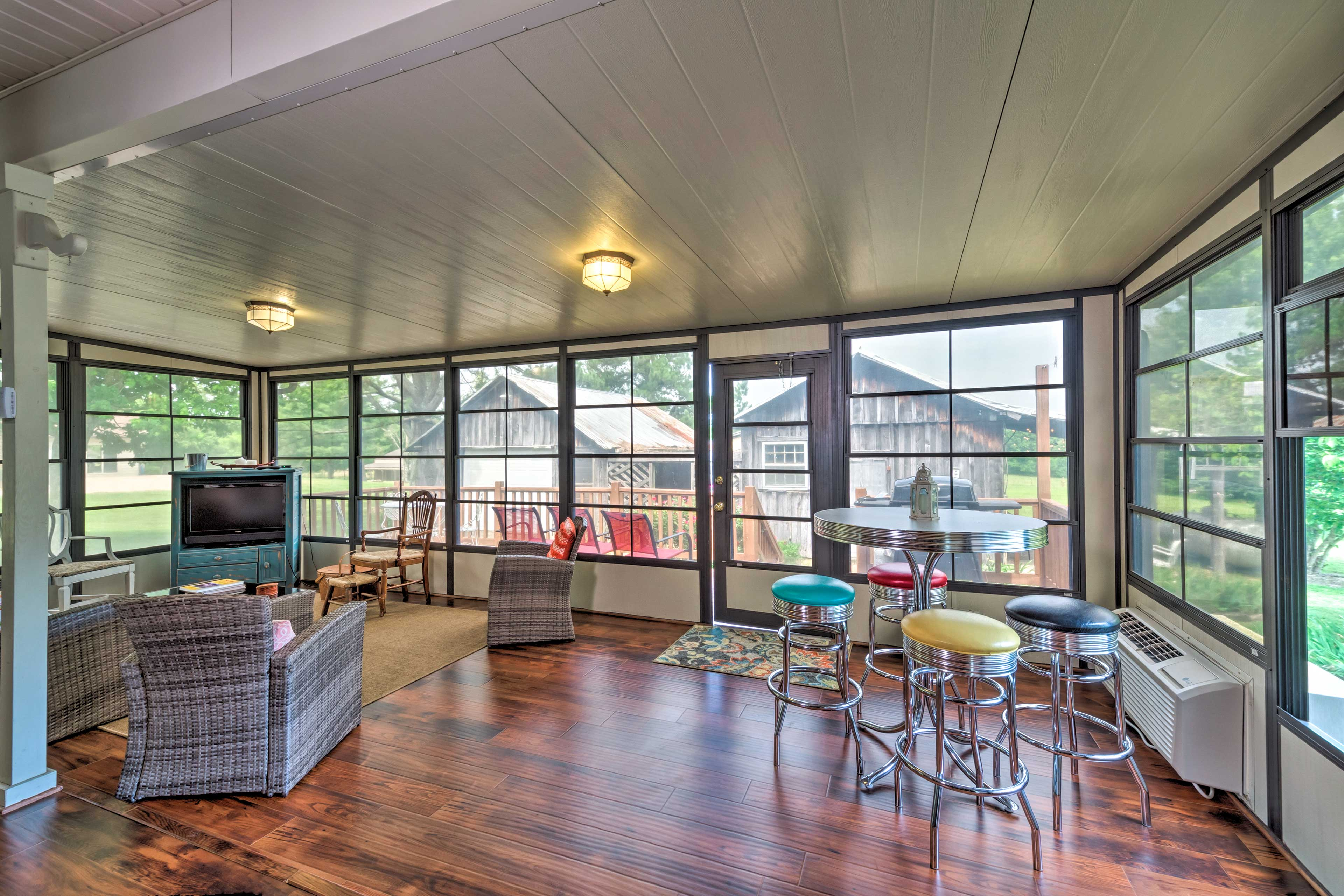 You'll also find a beautiful sunroom on the main level.