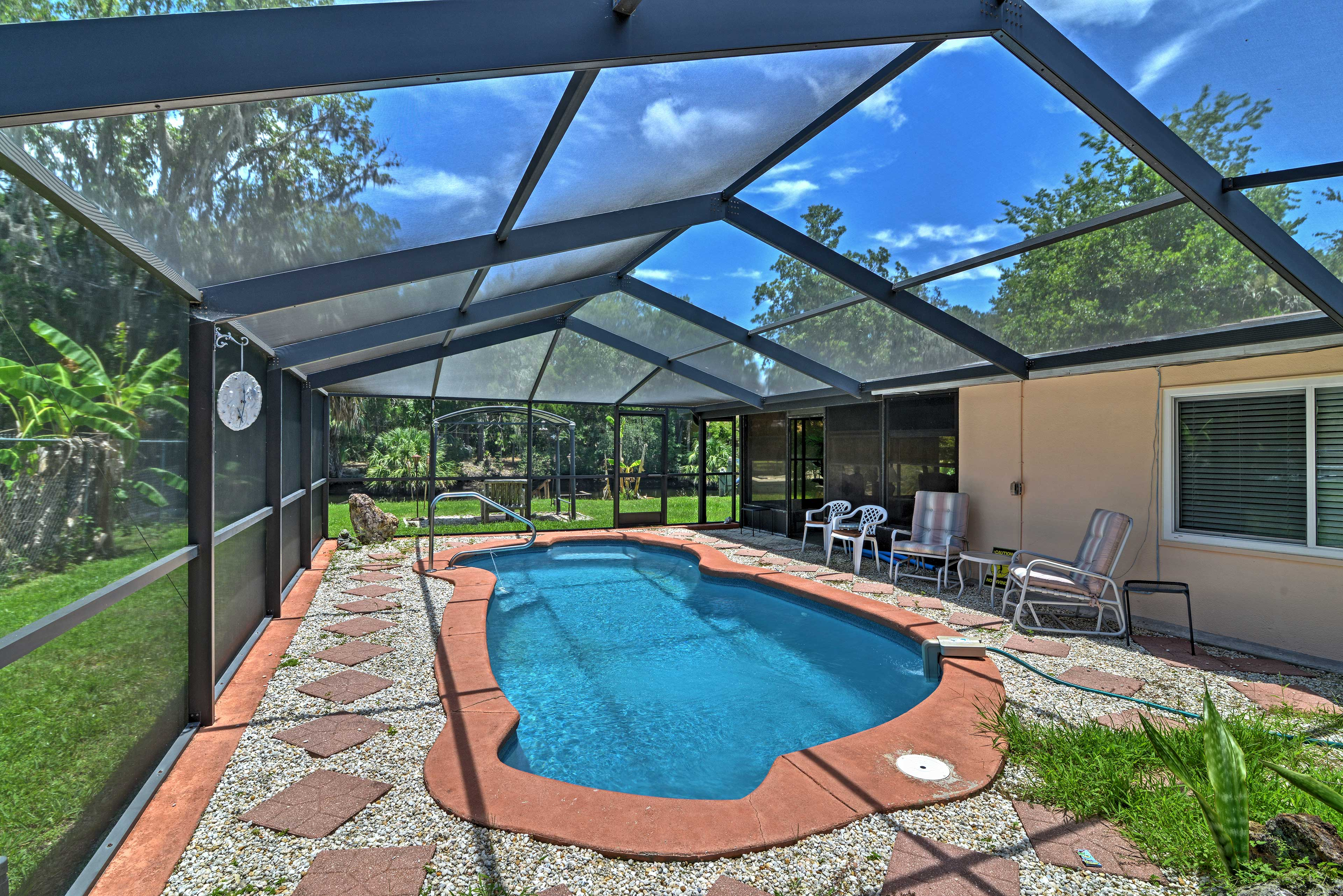 A Florida vacation awaits at this 2-bed, 2-bath vacation rental on the water.