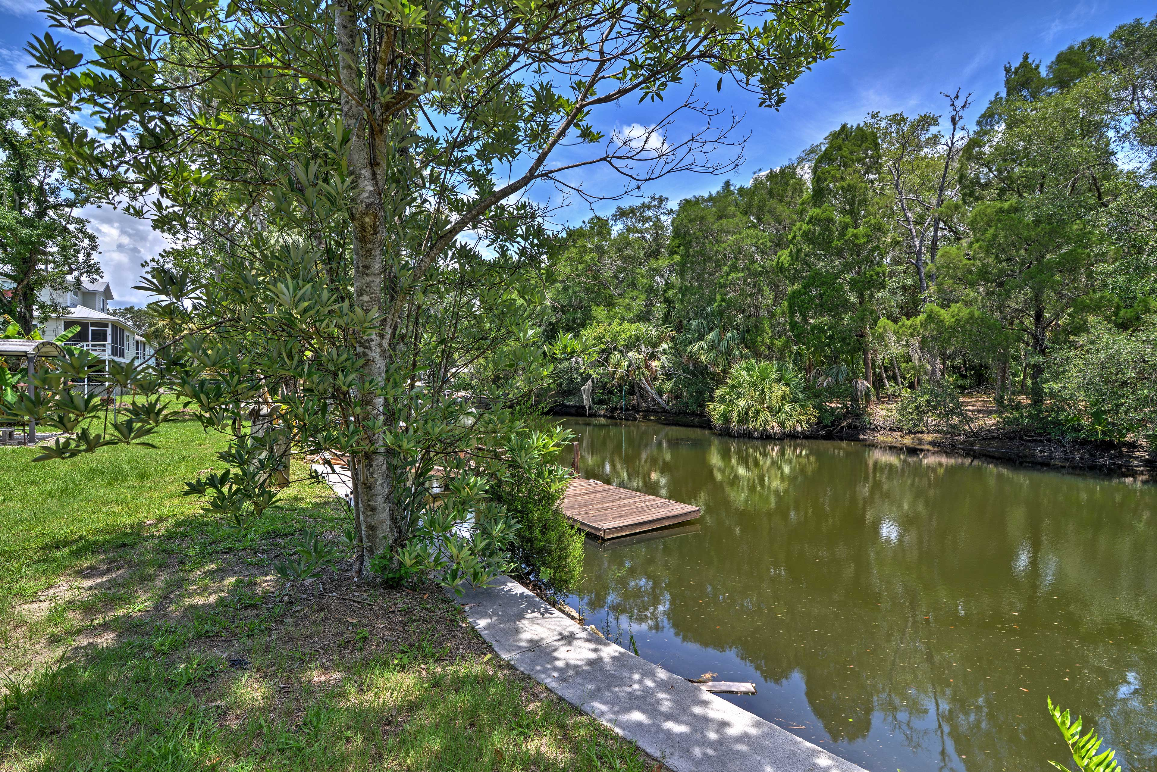Located on a canal, you'll have access to boating, fishing, kayaking, and more.