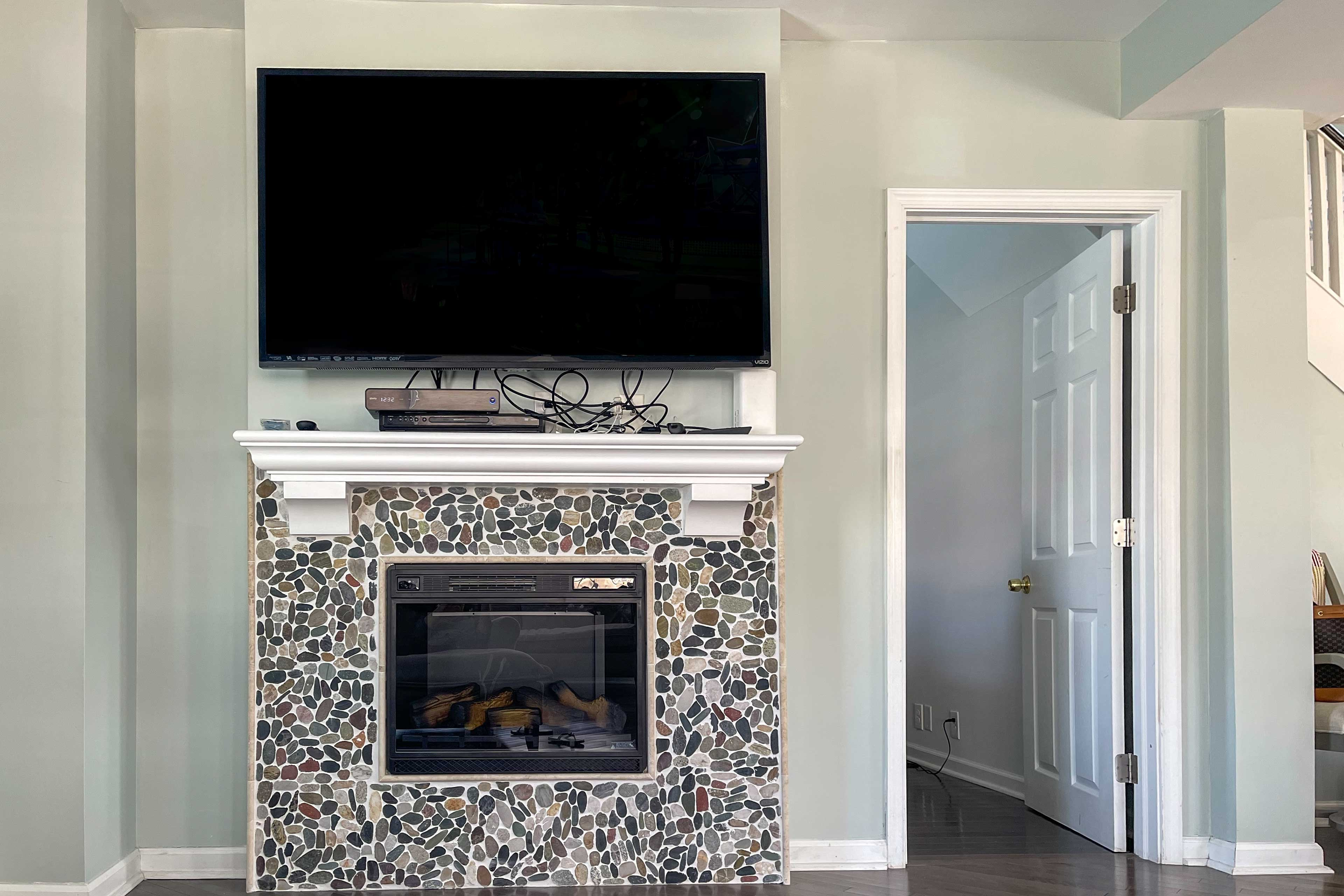 Flip on the TV or fireplace!