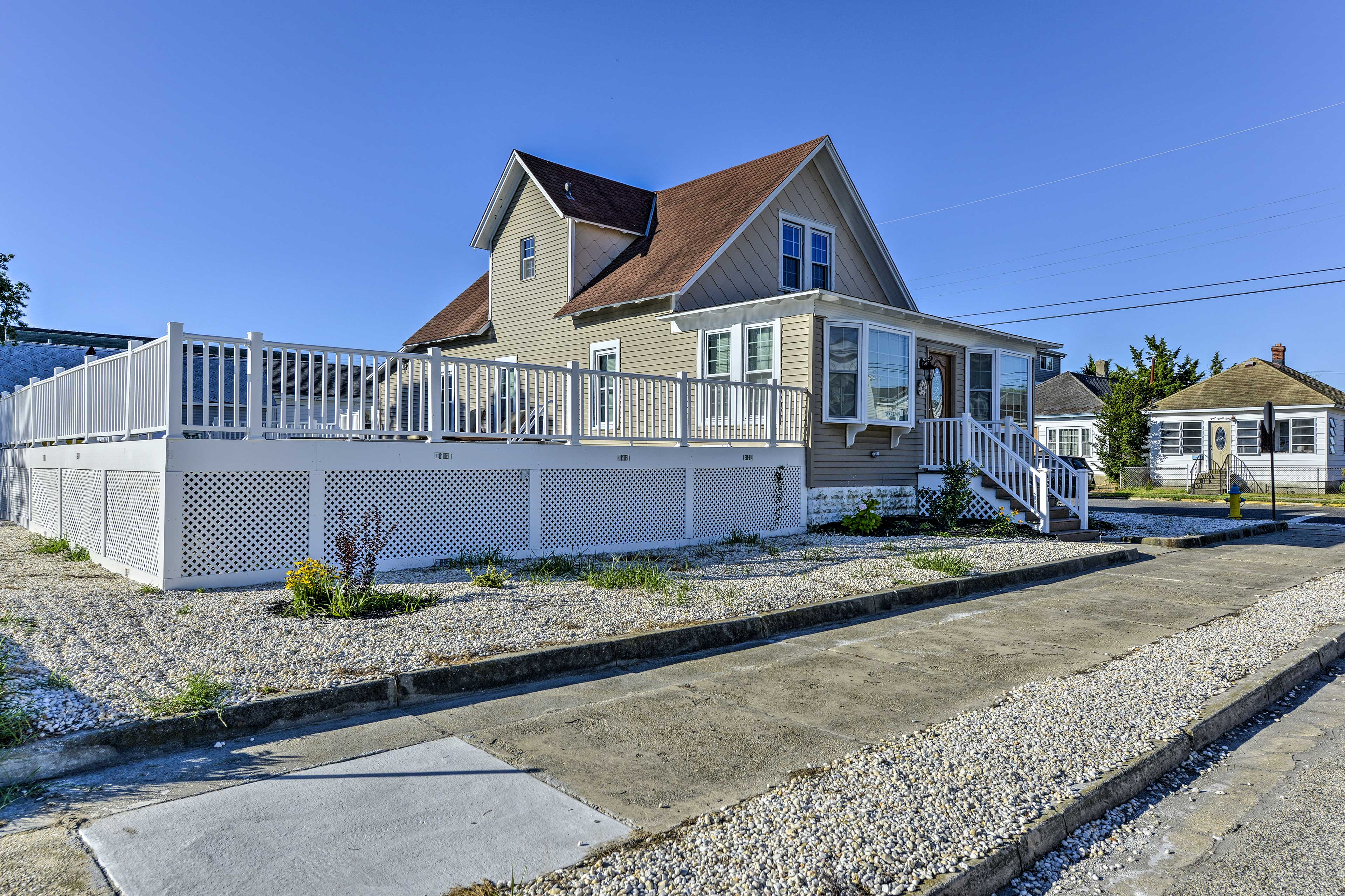 Elevate your retreat at this 3-bedroom, 2-bath Wildwood vacation rental house.