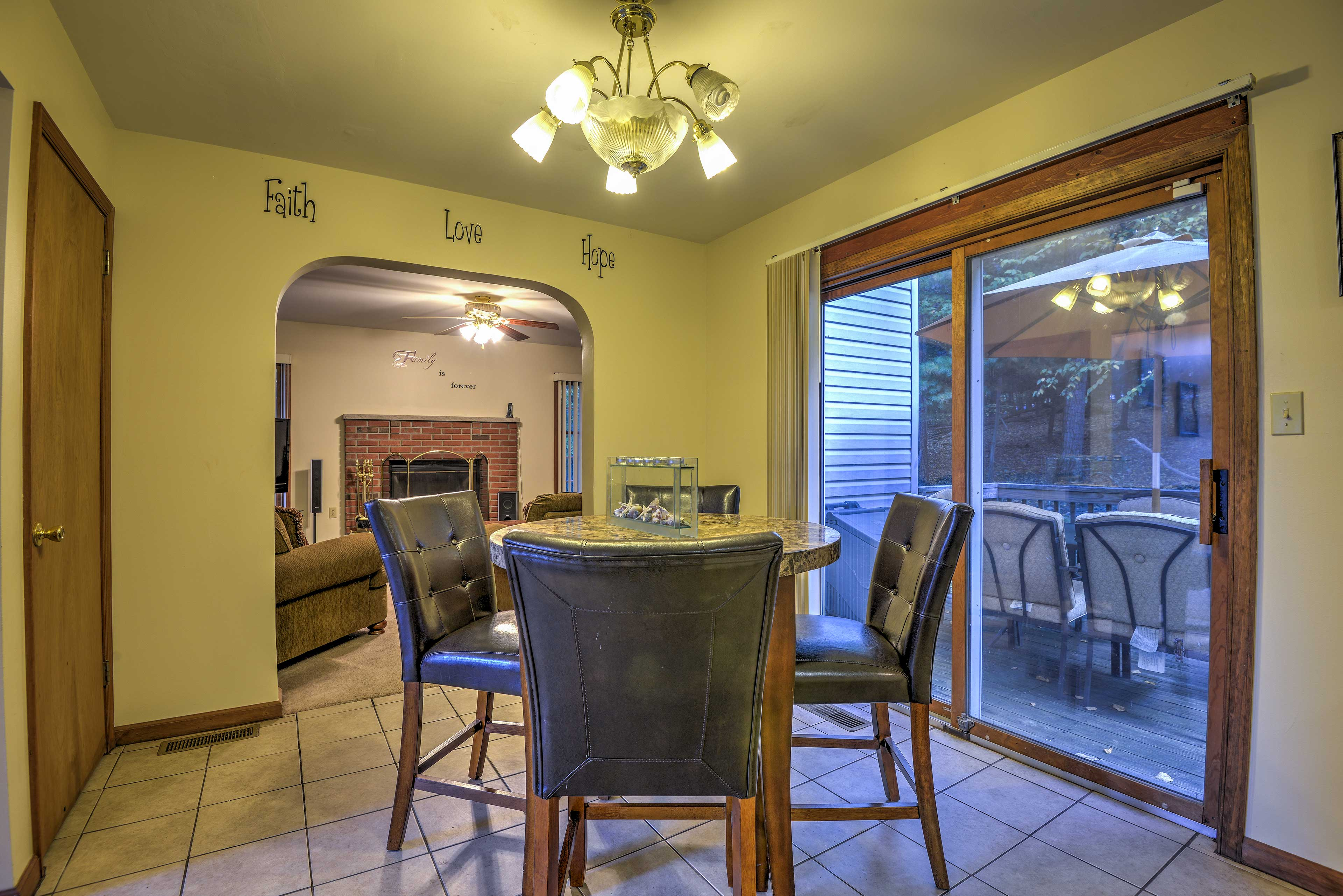 Dining Area   Open Concept