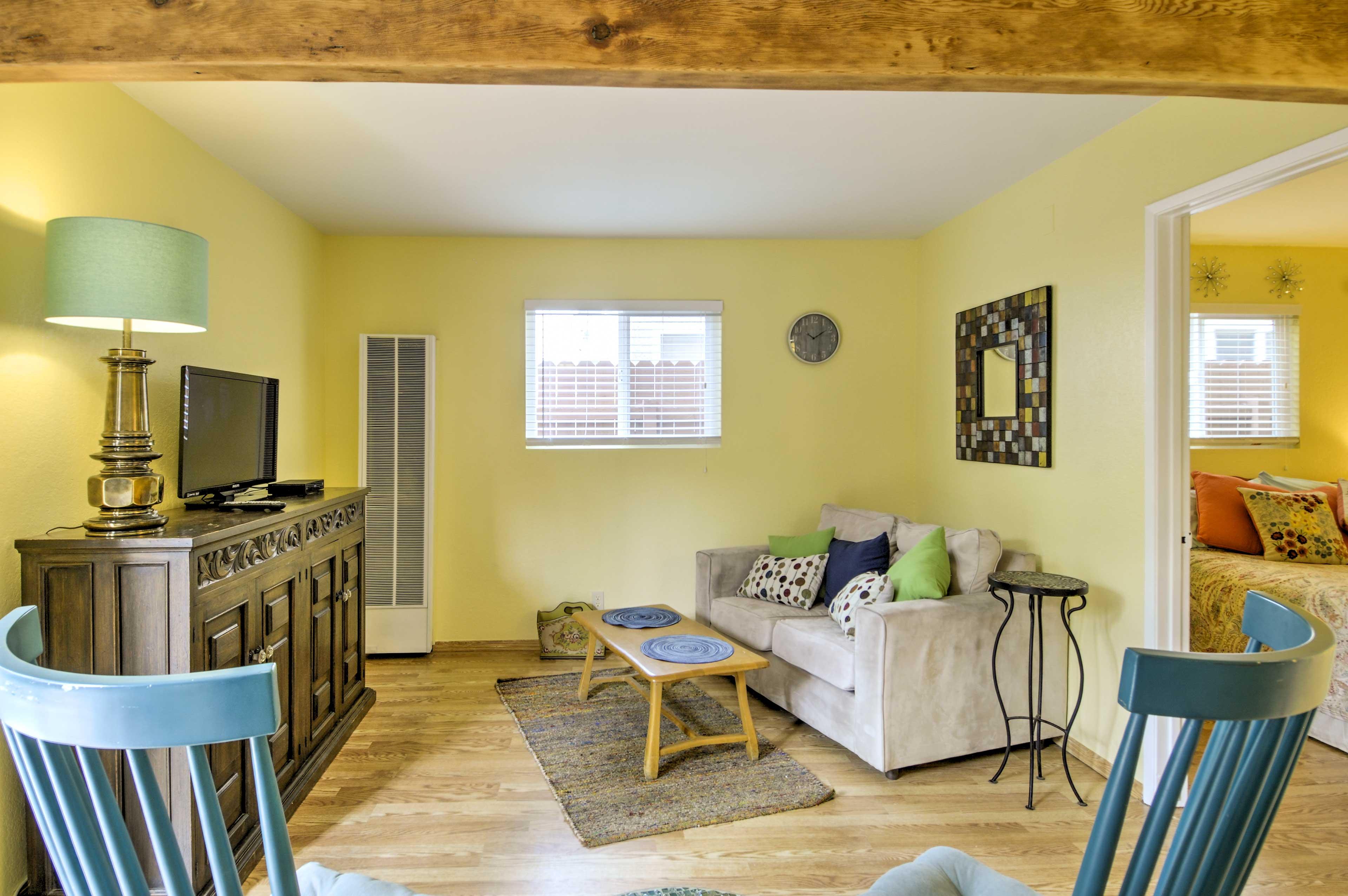 A seaside oasis awaits at this cozy 1-bedroom, 1-bathroom Oxnard vacation rental