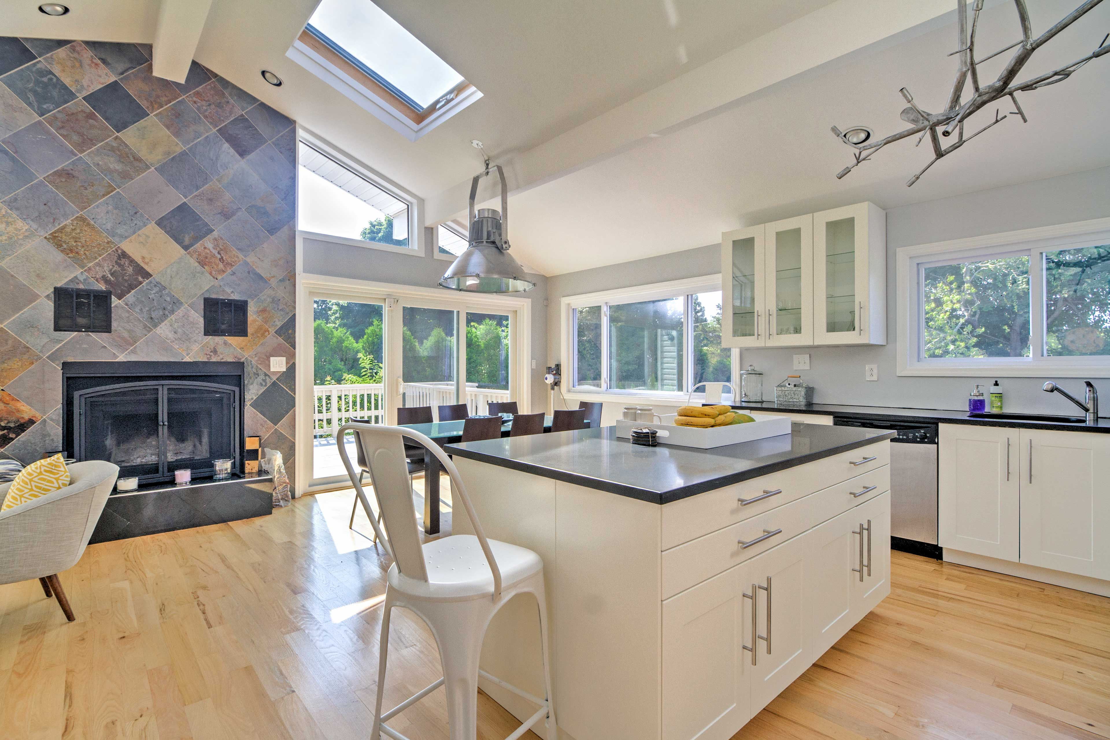 The completely renovated home boasts 2,074 square feet of living space.