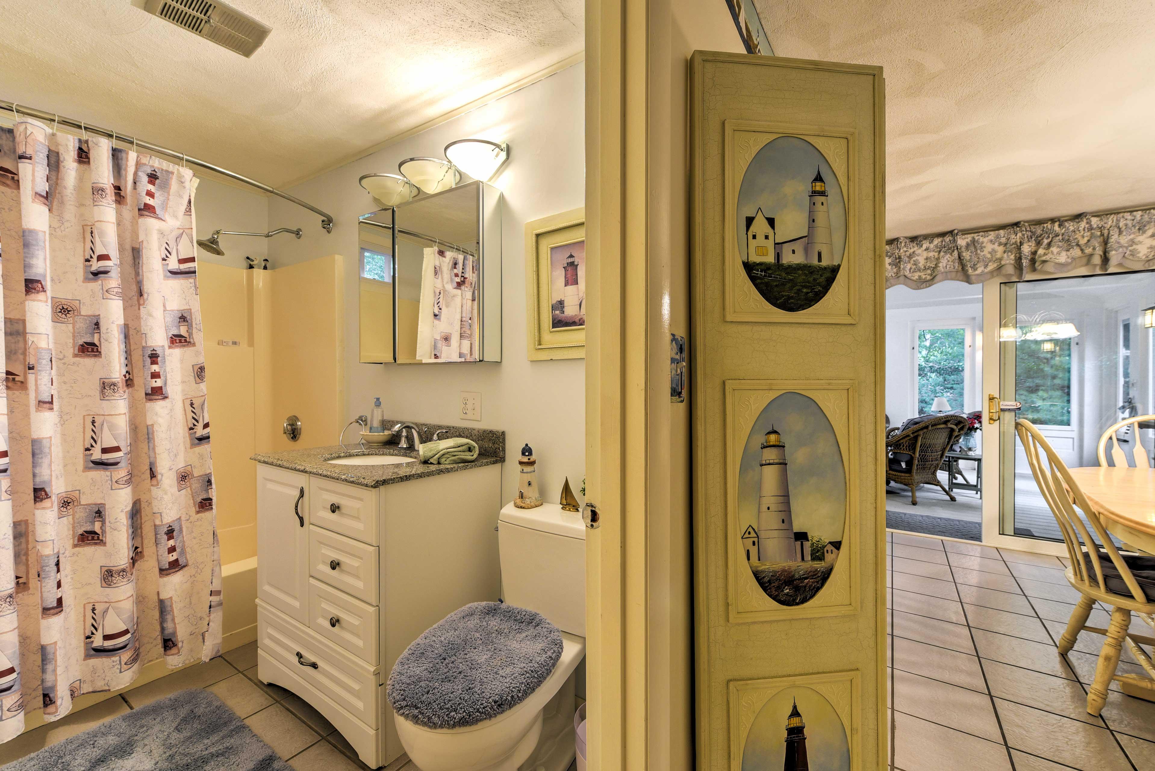 The house features 2 full baths and a half bath.