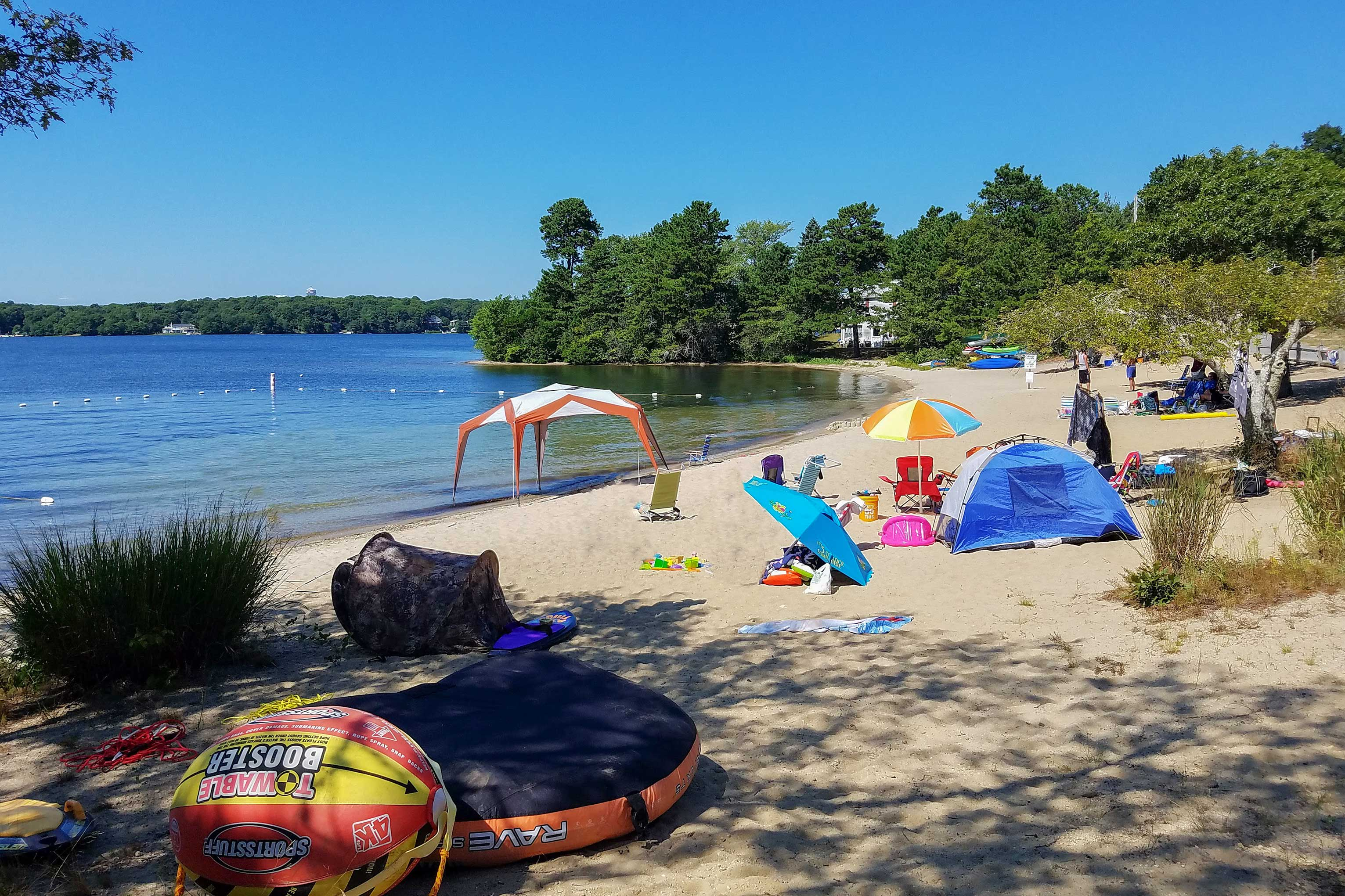 You'll be within walking distance of a private, family friendly beach!