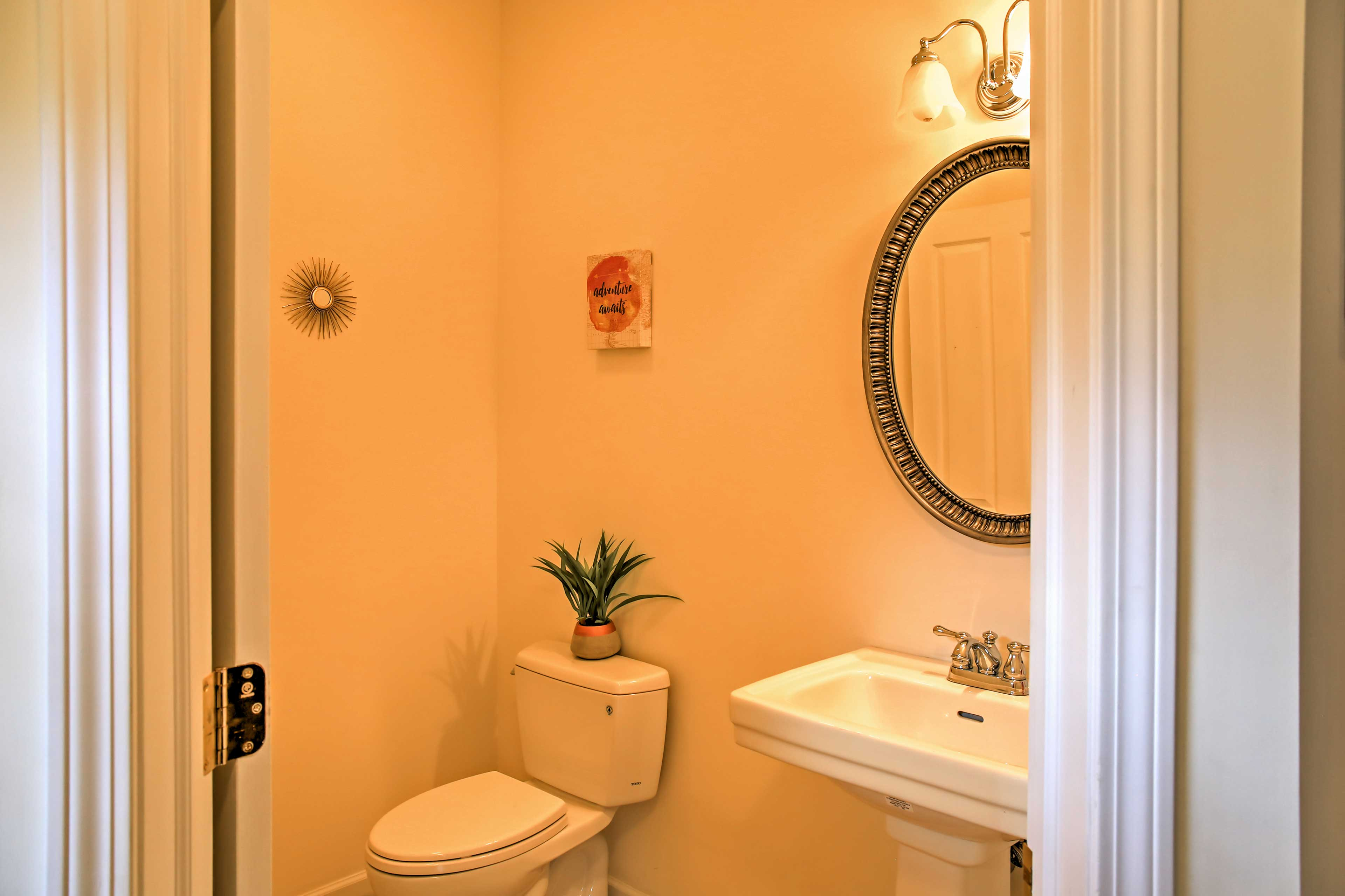 You'll find a half bath on the main floor.