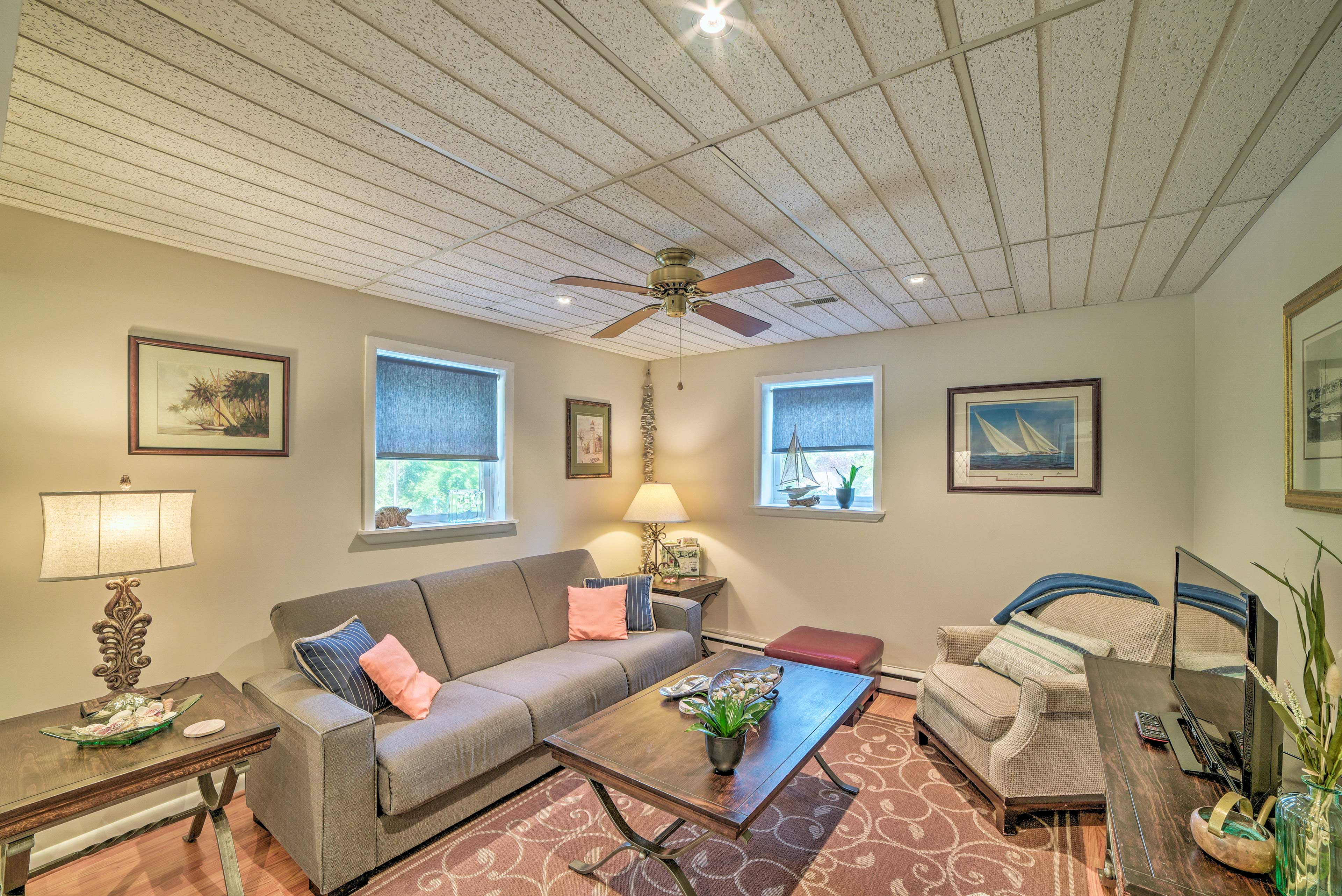 The whole property is tastefully furnished with updated decor.