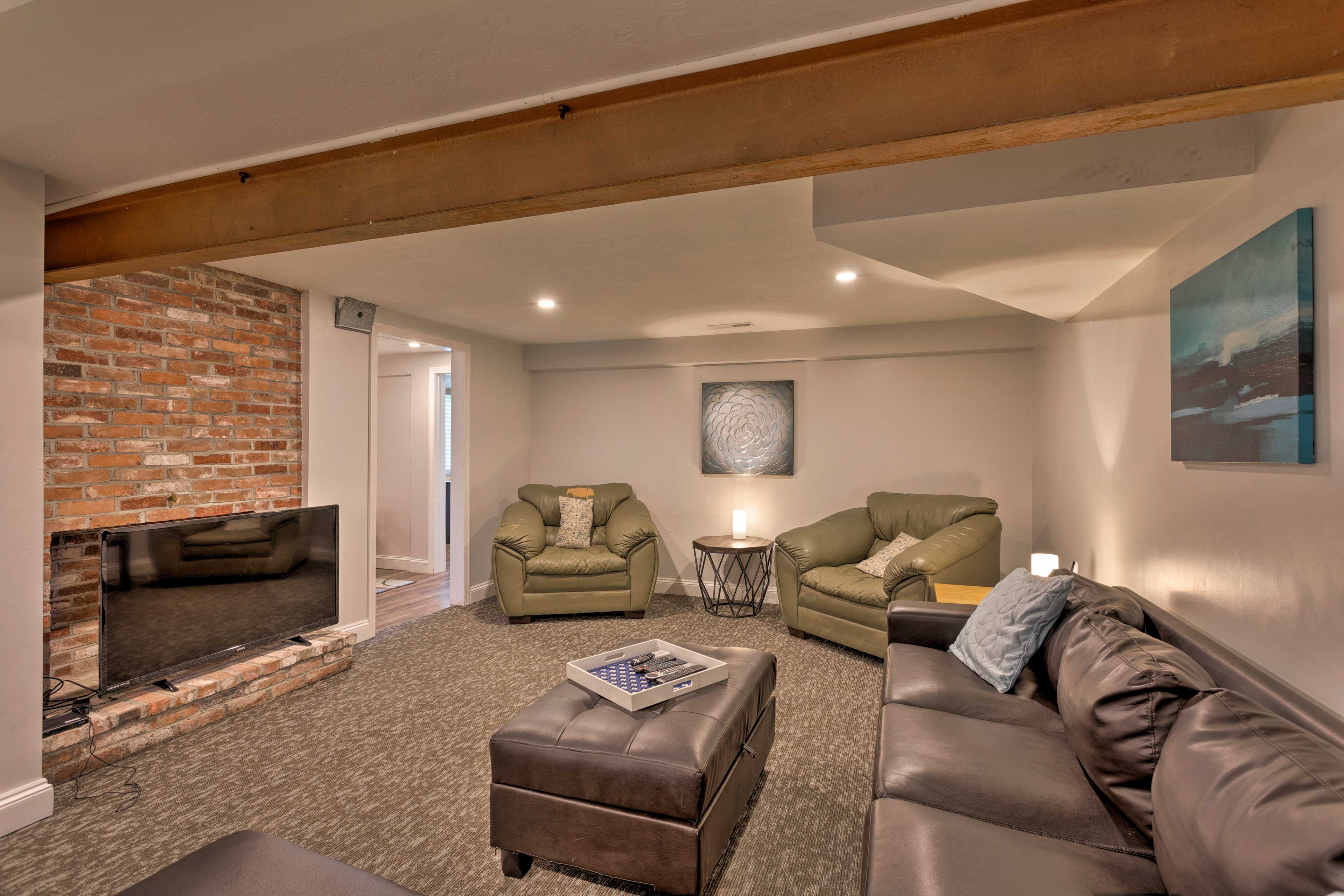 Host a movie night downstairs in the basement.