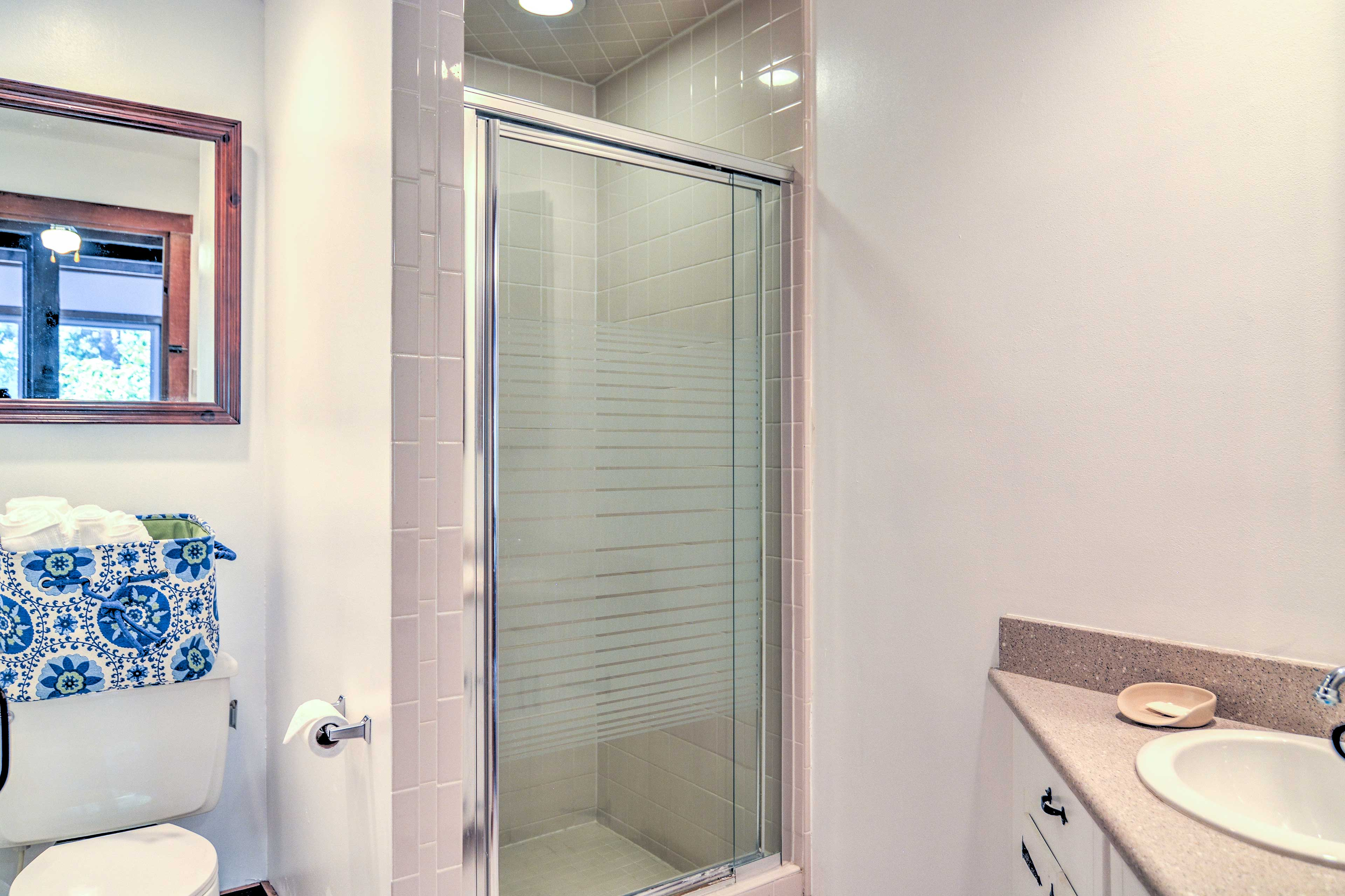 You'll find a walk-in shower in the second bathroom.