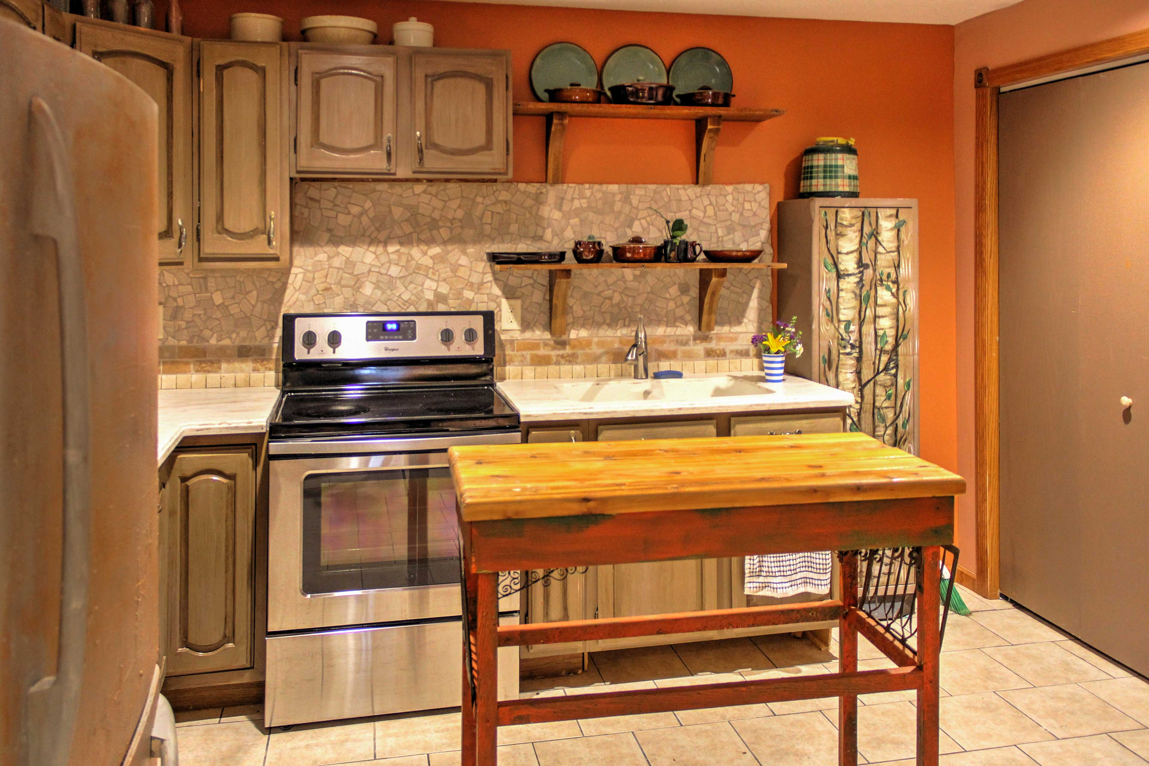 Enjoy homemade meals in this well-equipped kitchen.