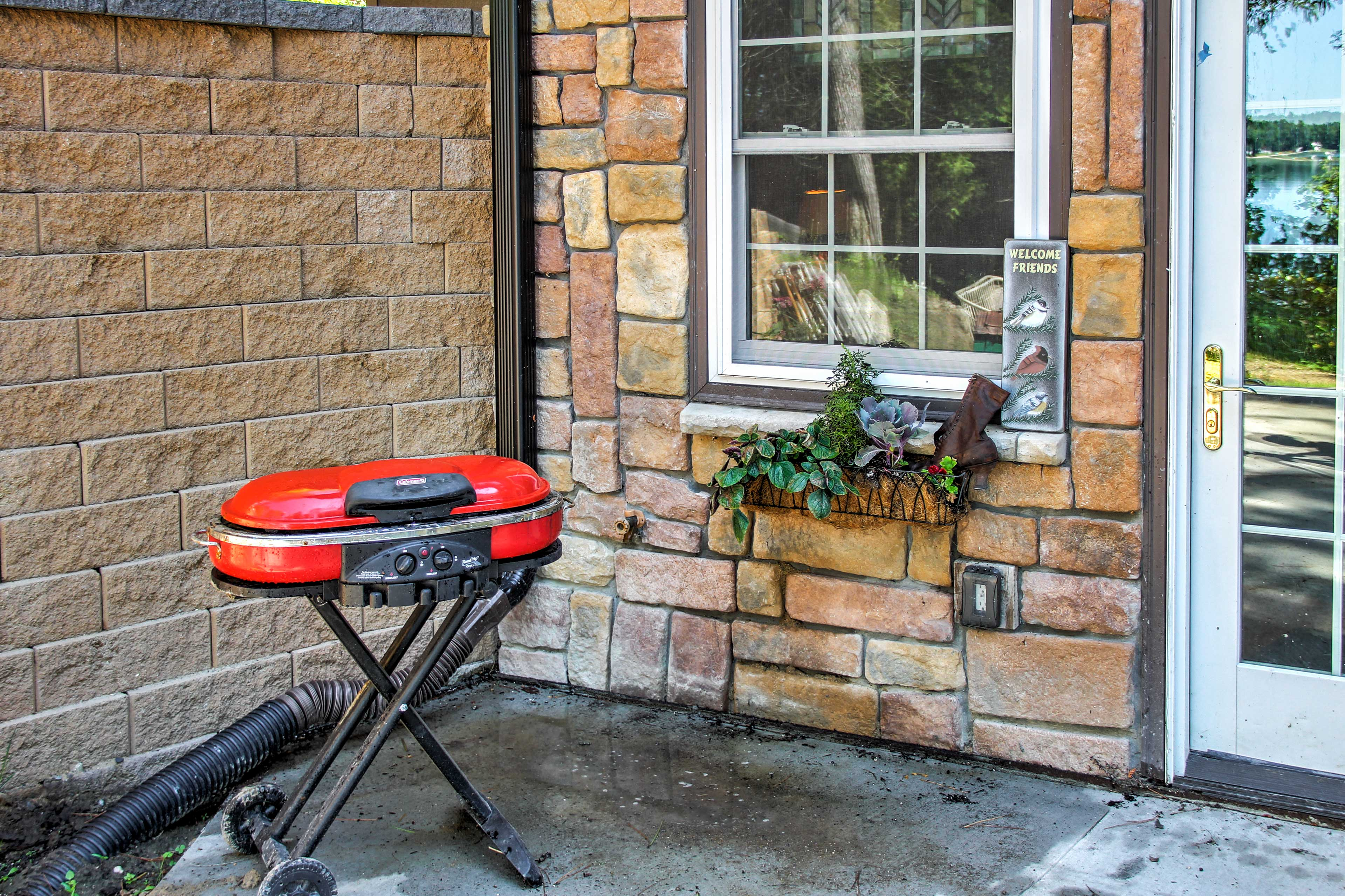 Fire up the grill for a family cookout in the backyard.