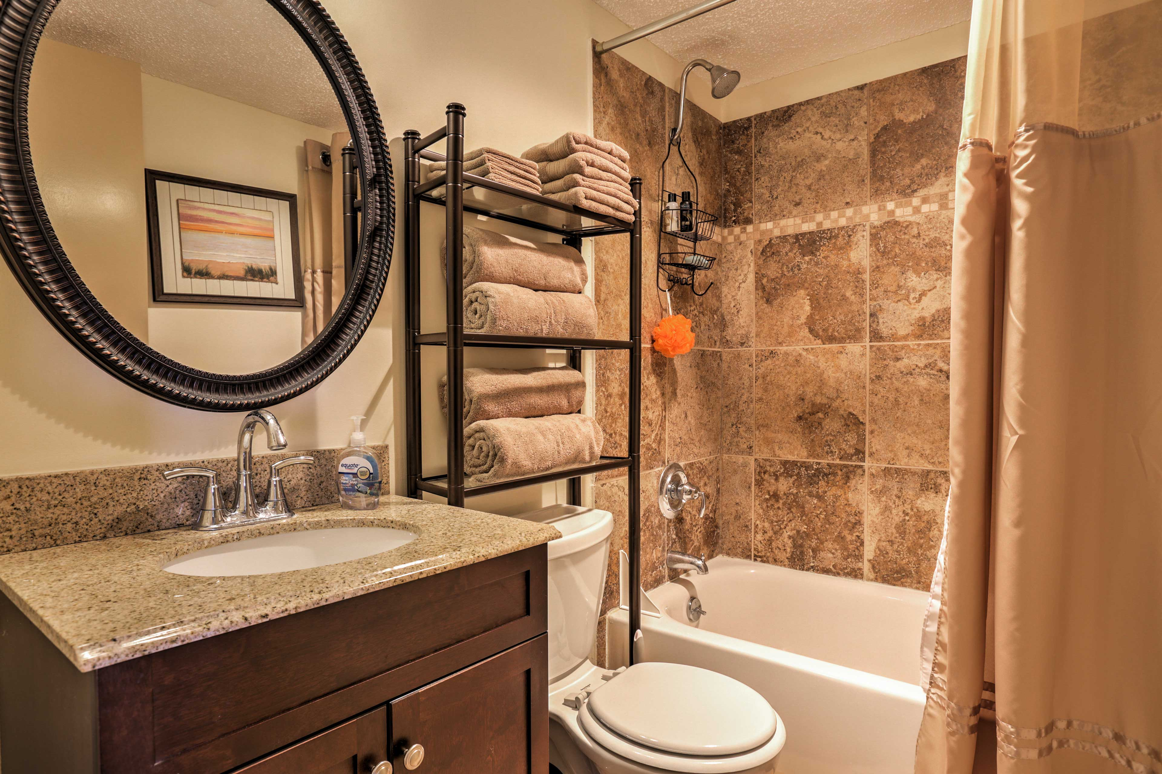 Rinse off in one of the 2 pristine bathrooms.