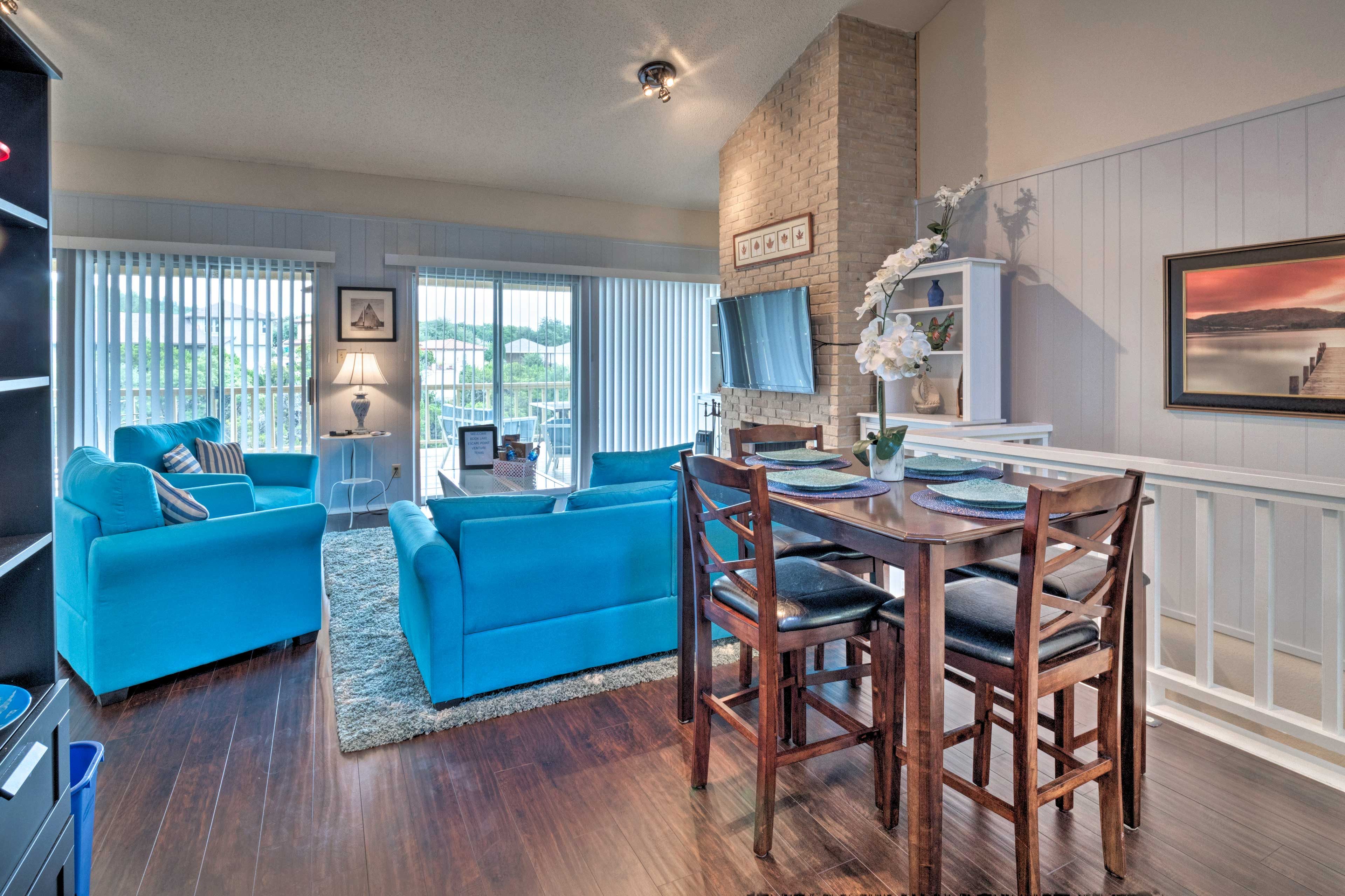 The 1,152-square-foot home boasts tastefully-appointed living space.