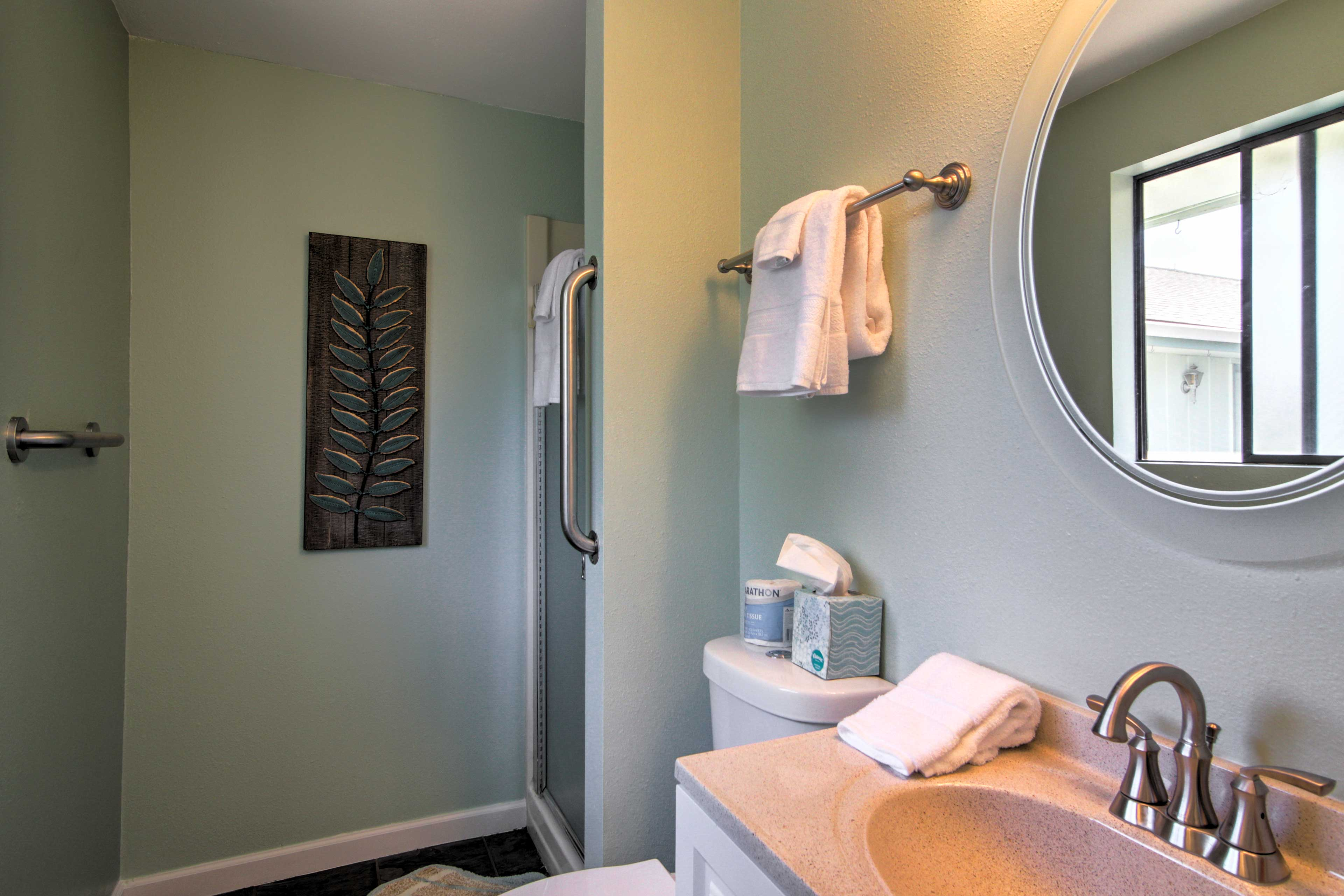 Freshen up before heading out the door for a fun-filled day.
