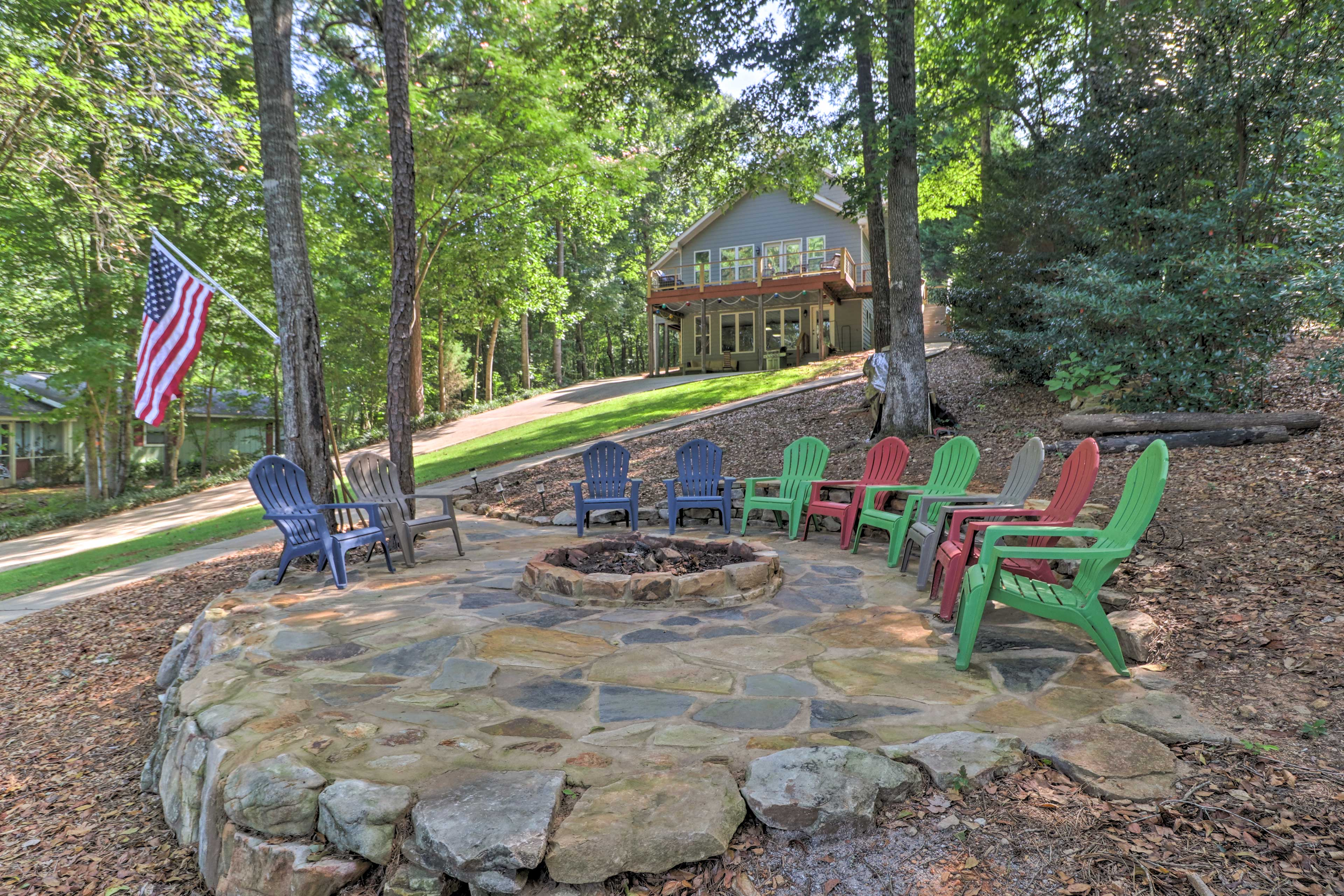 Fire Pit Area | Large Yard