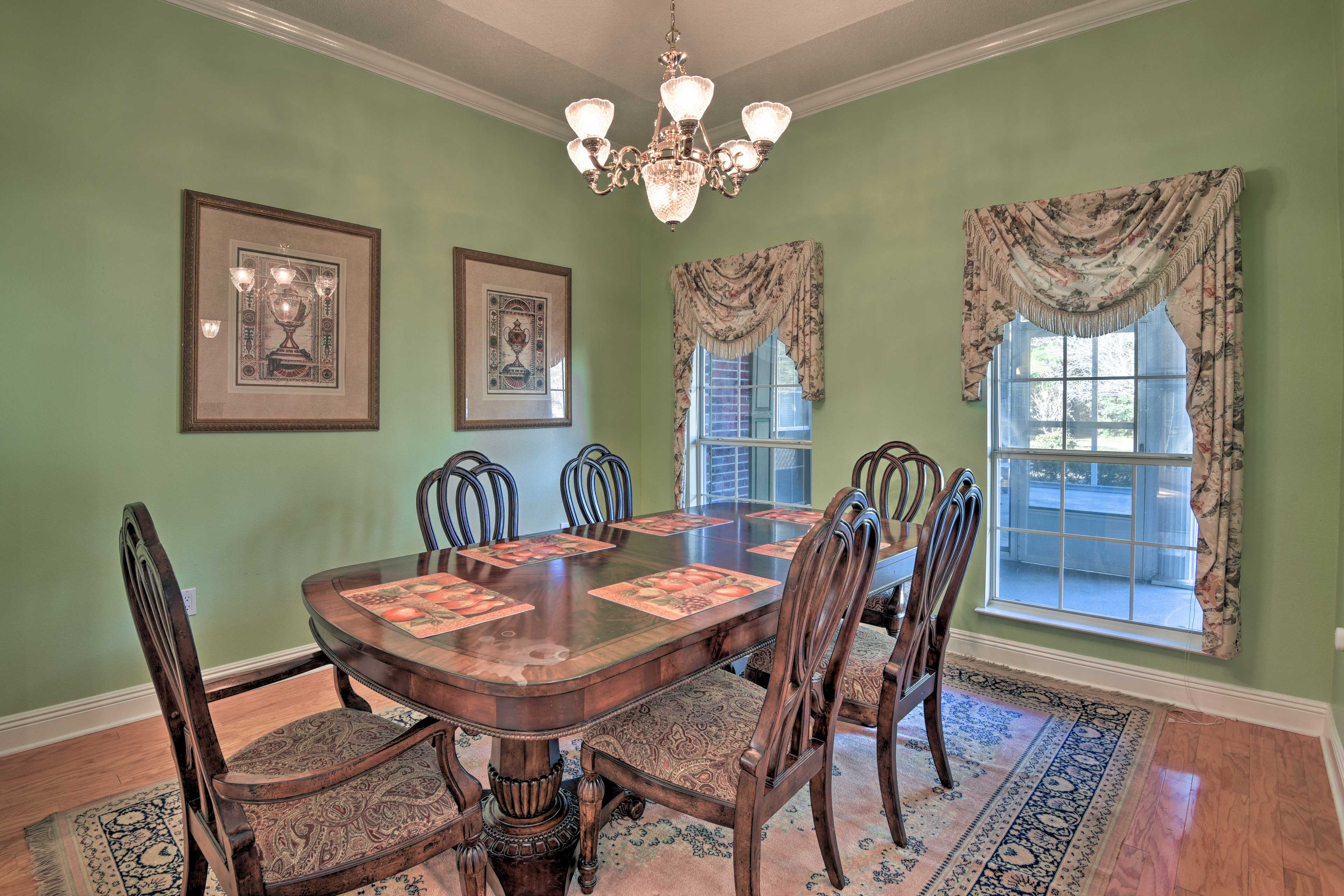For special occasions, gather in the formal dining room.