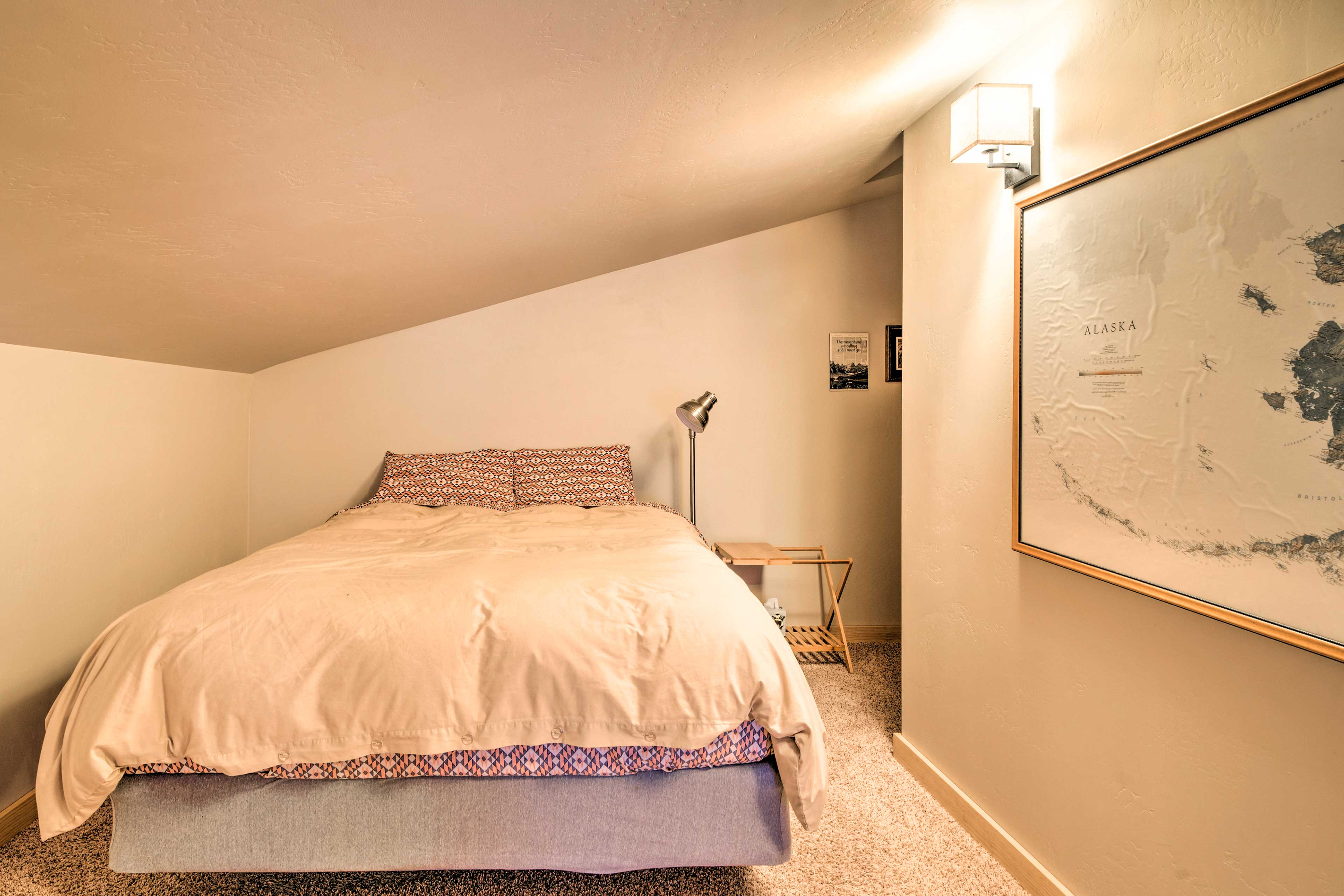 Take a bear nap in the loft's queen bed.