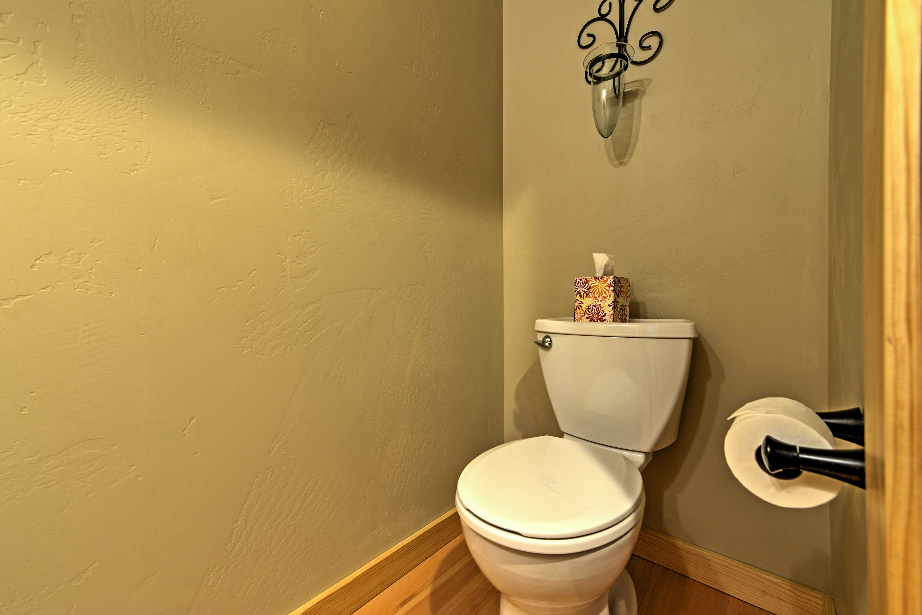 This half bathroom is sure to come in handy!