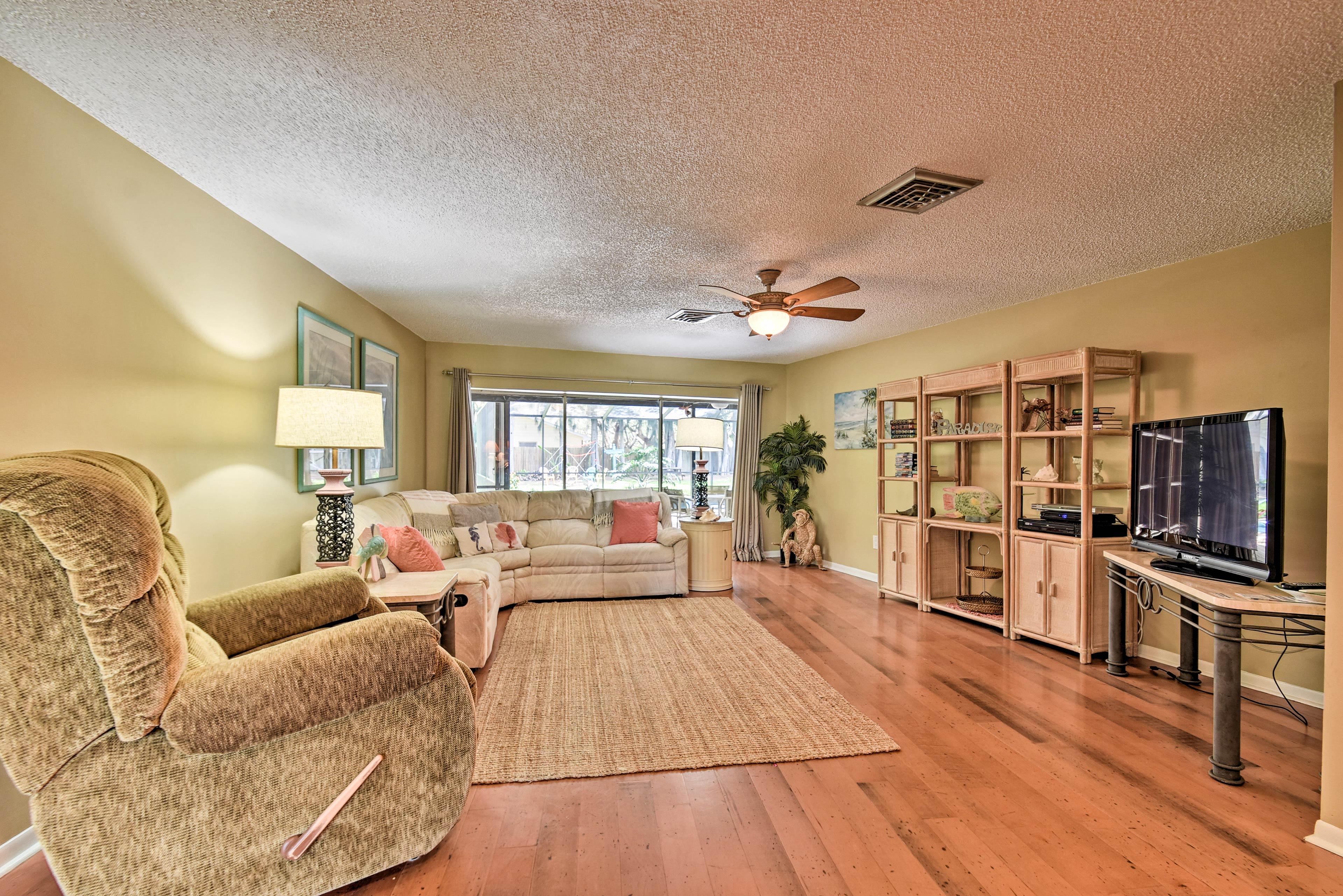 Hardwood floors elevate this home.