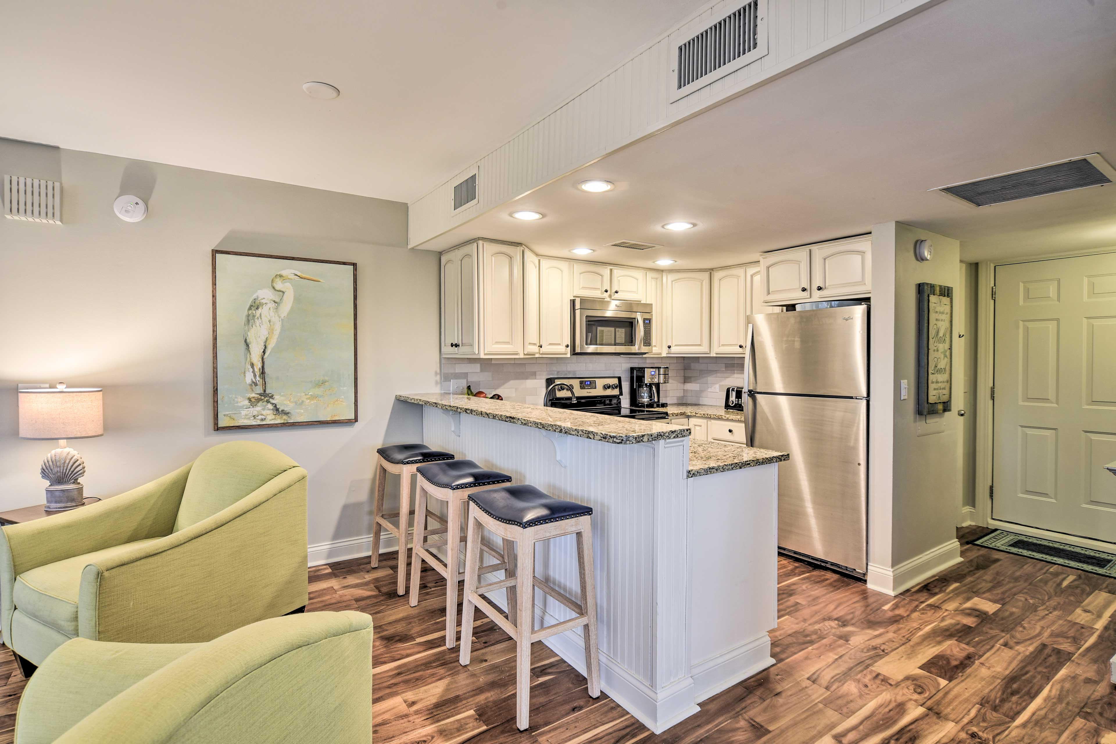 Kitchen | Fully Equipped | Granite Counters | Modern Appliances