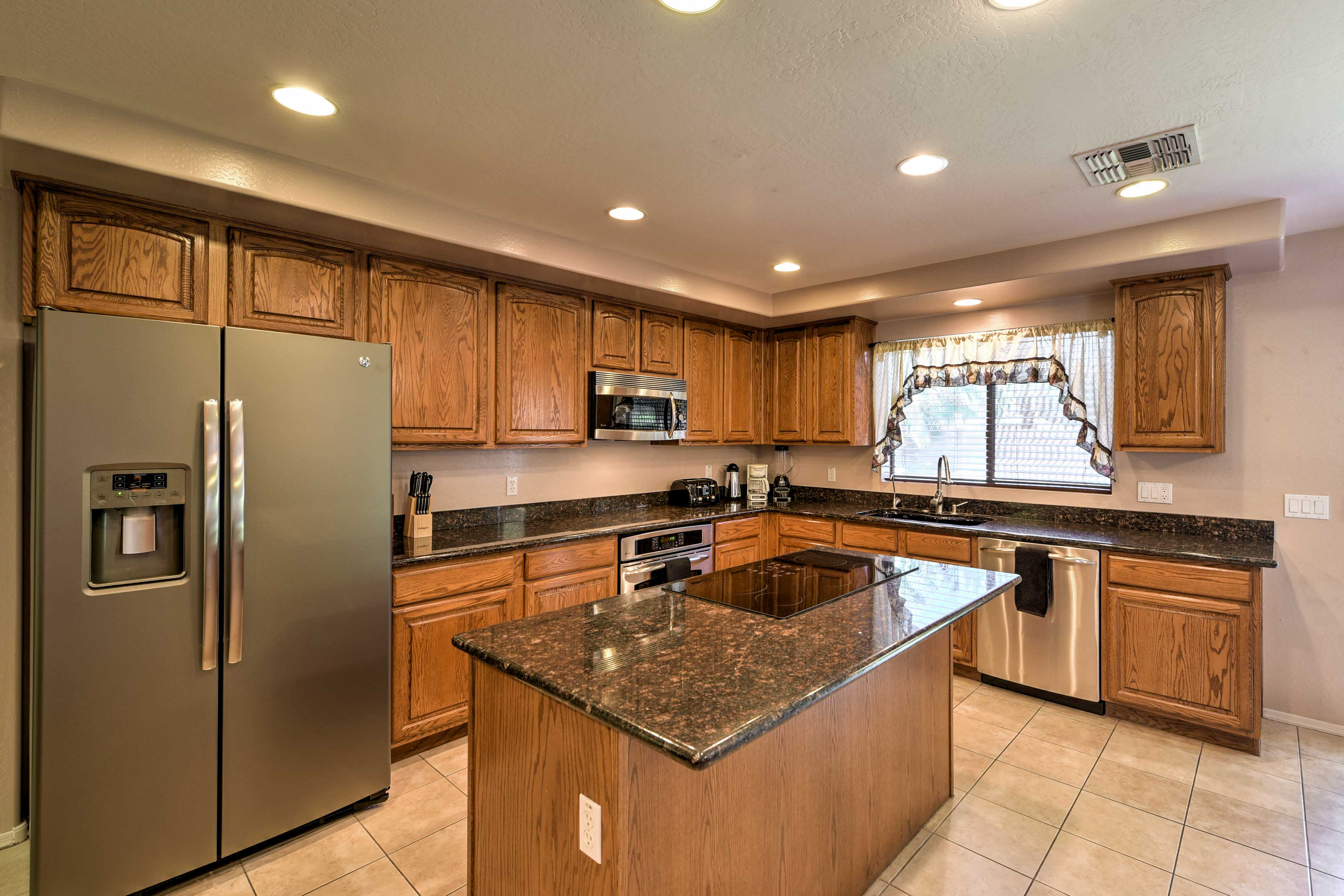 Whip up delicious masterpieces in the fully equipped kitchen.