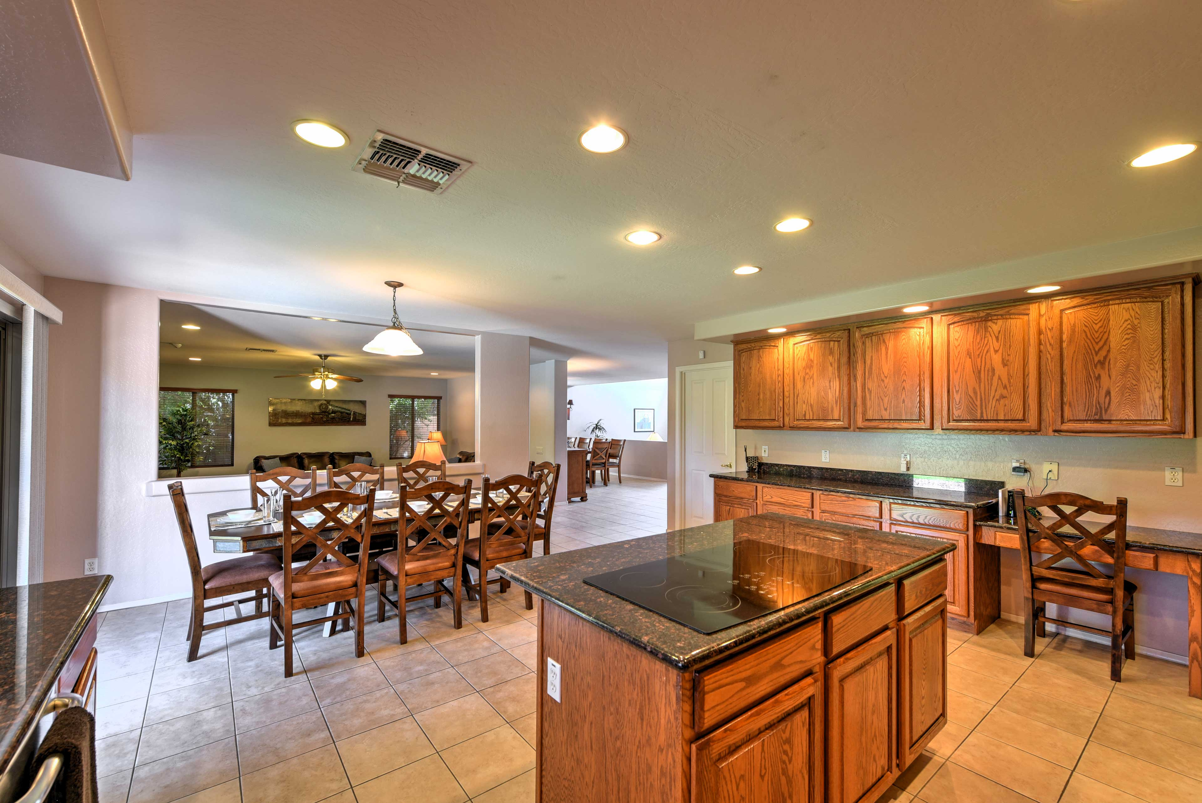 There's plenty of room to move around in this kitchen.