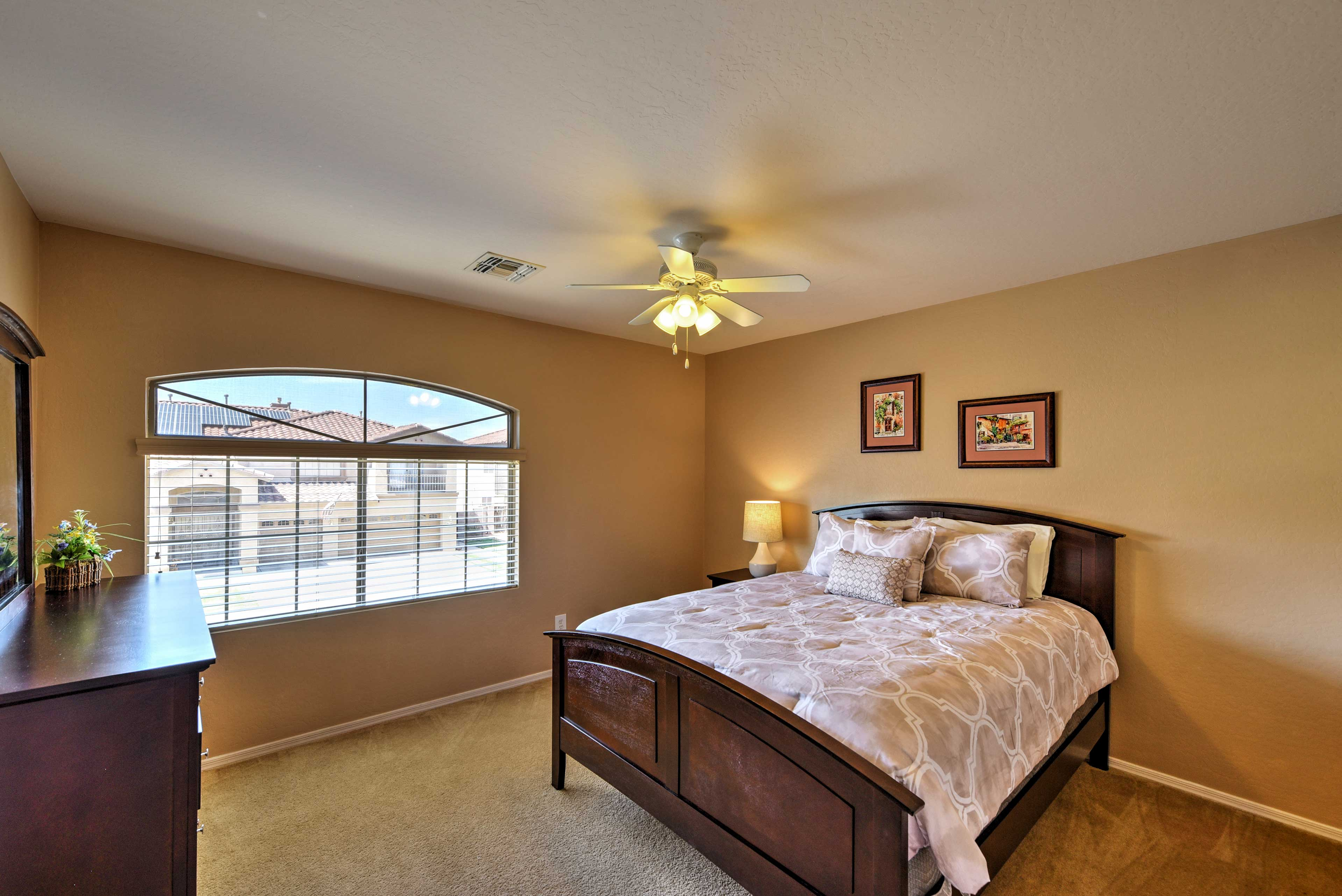 The fourth bedroom also has a queen bed.