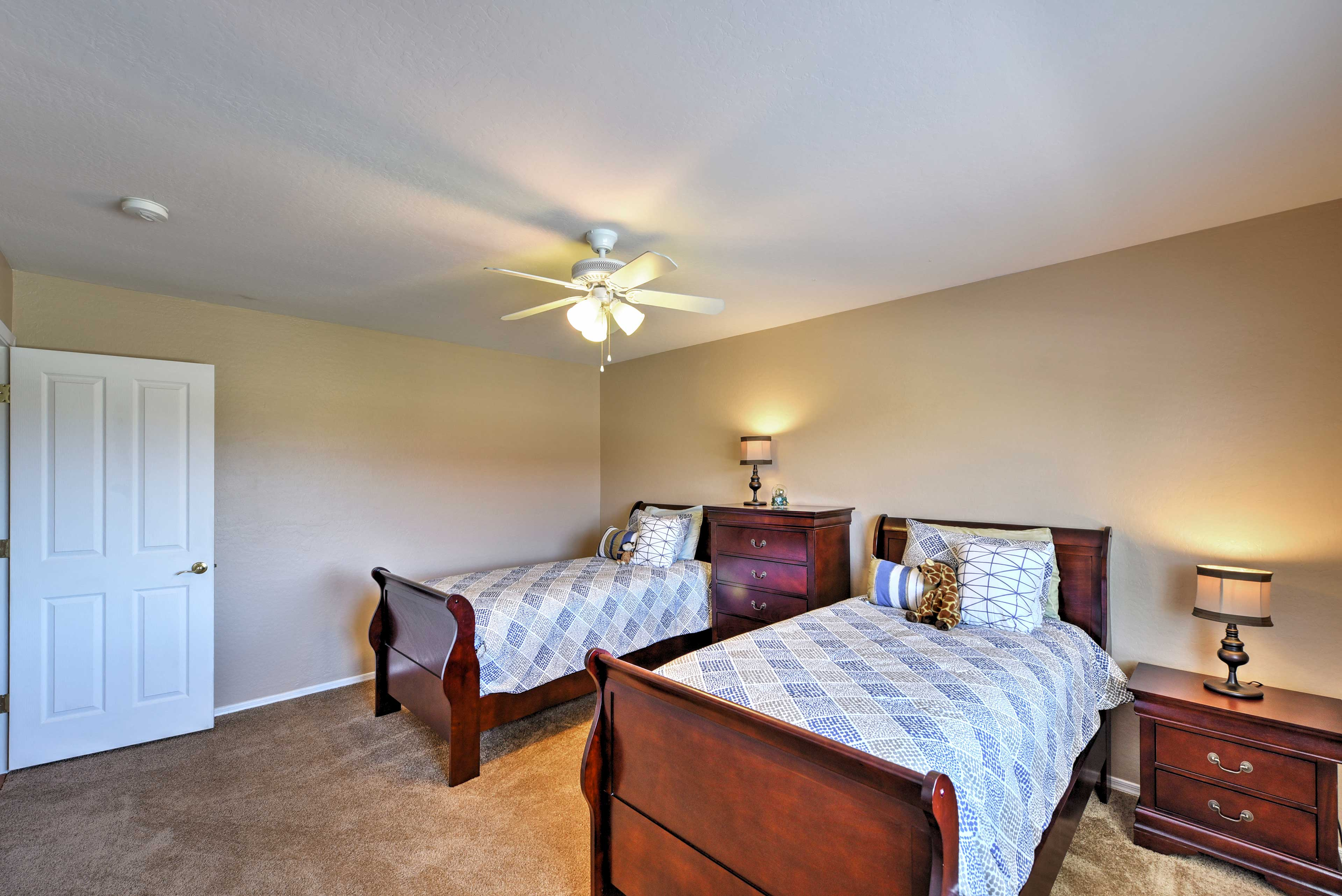 The last bedroom has 2 twin-sized beds.