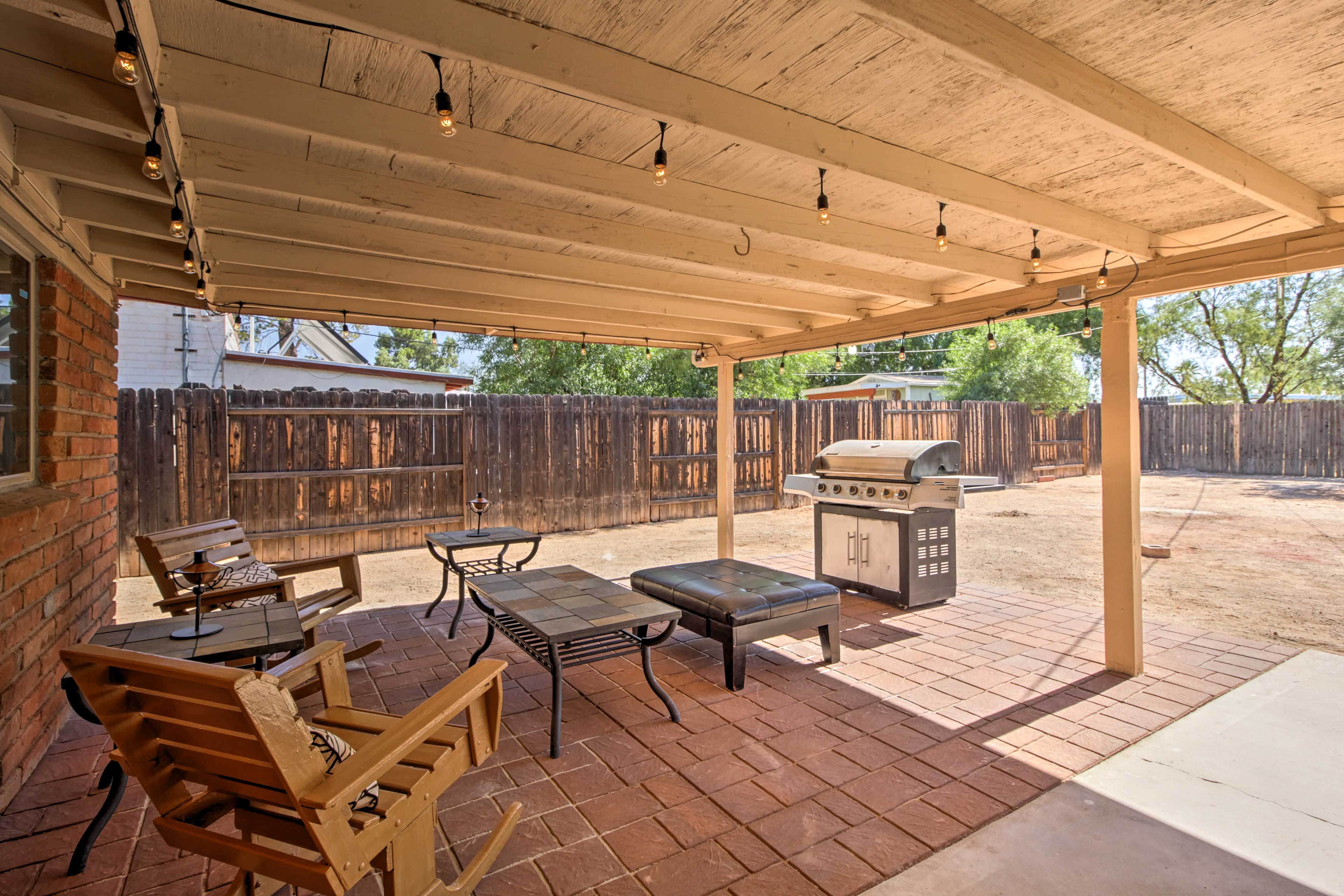Escape to Tucson while staying in this 3-bedroom, 2-bath vacation rental house.