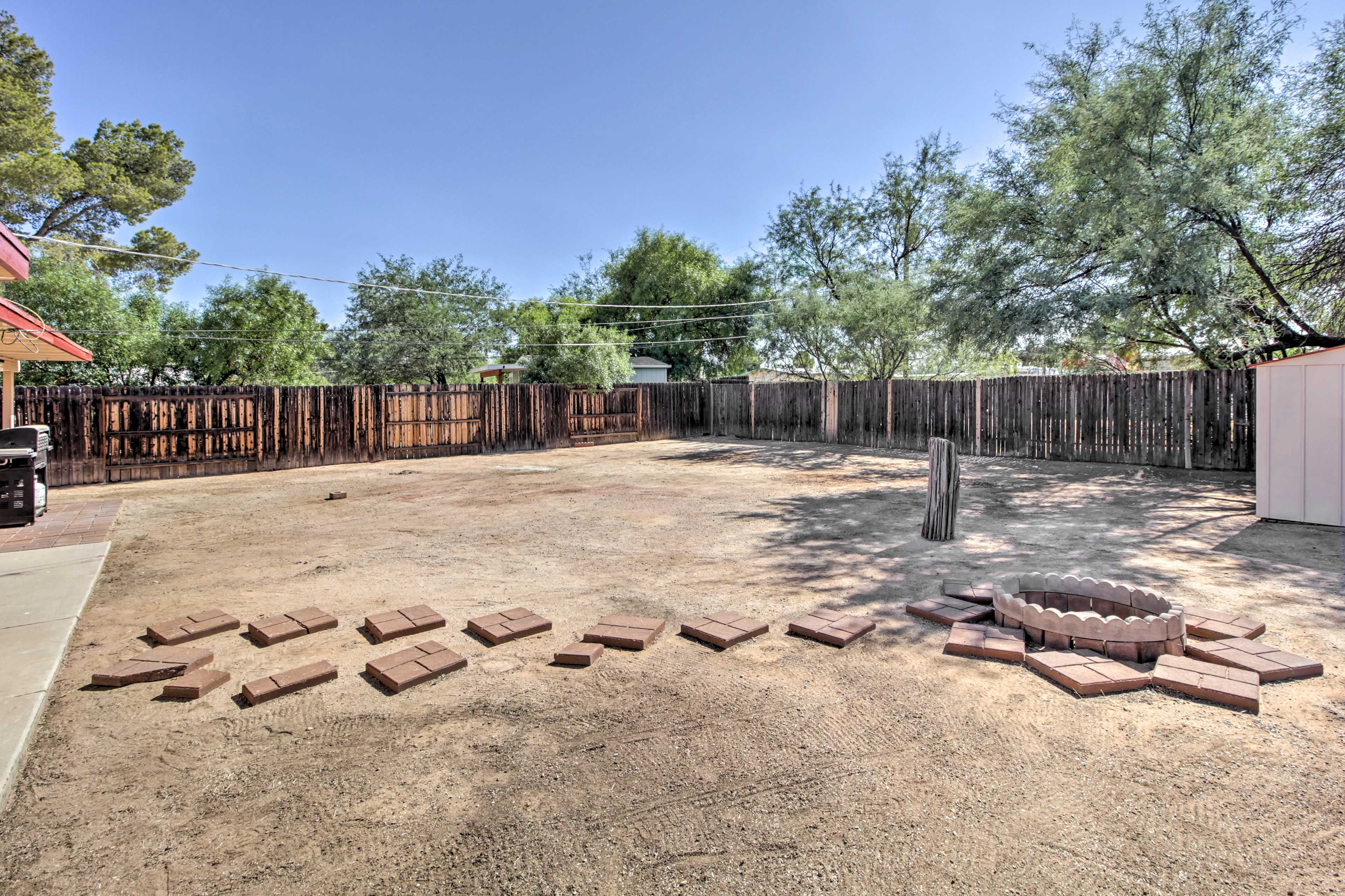 You'll enjoy amenities such as a gas grill and fire pit.