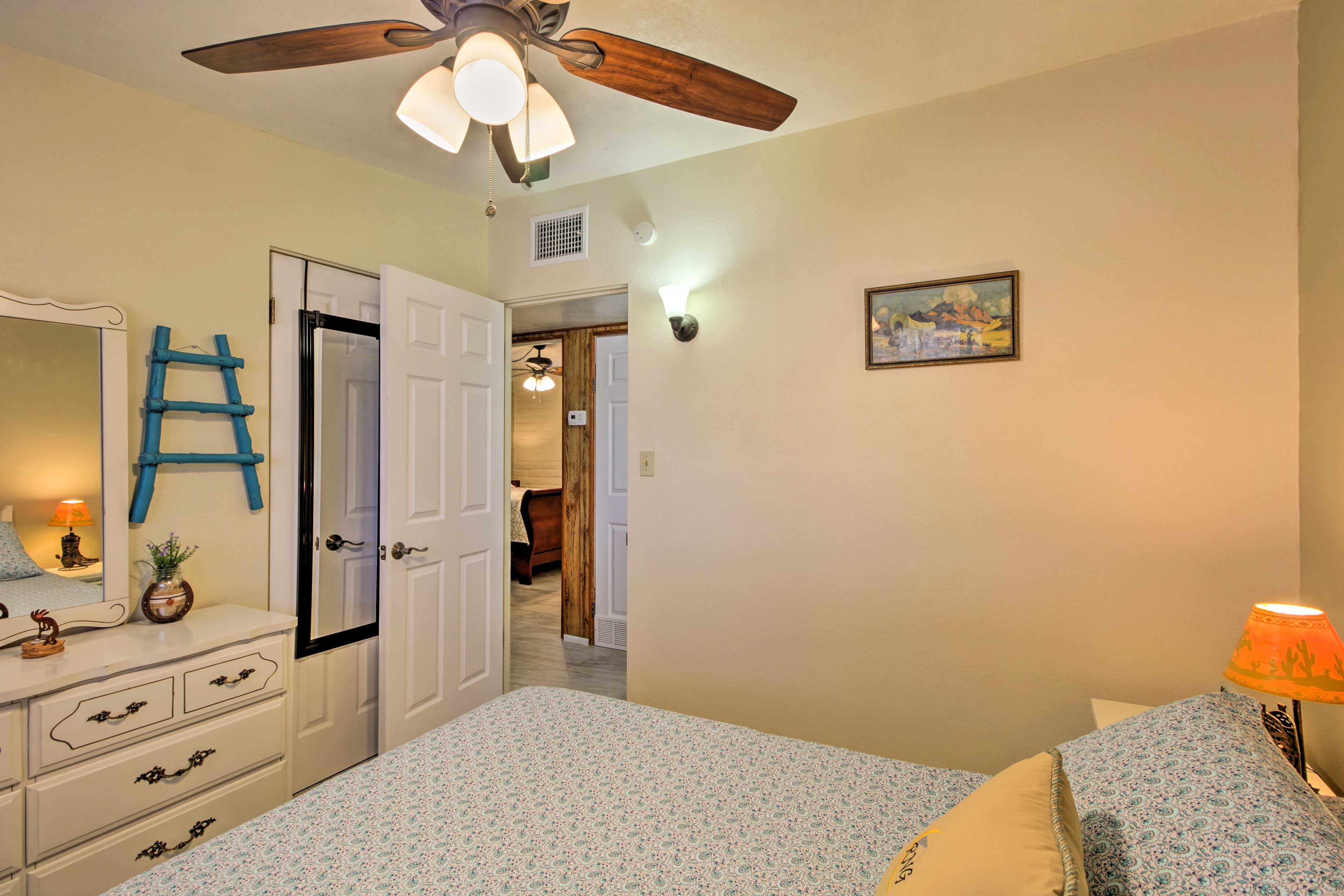 Ceiling fans will keep you cool while you sleep.