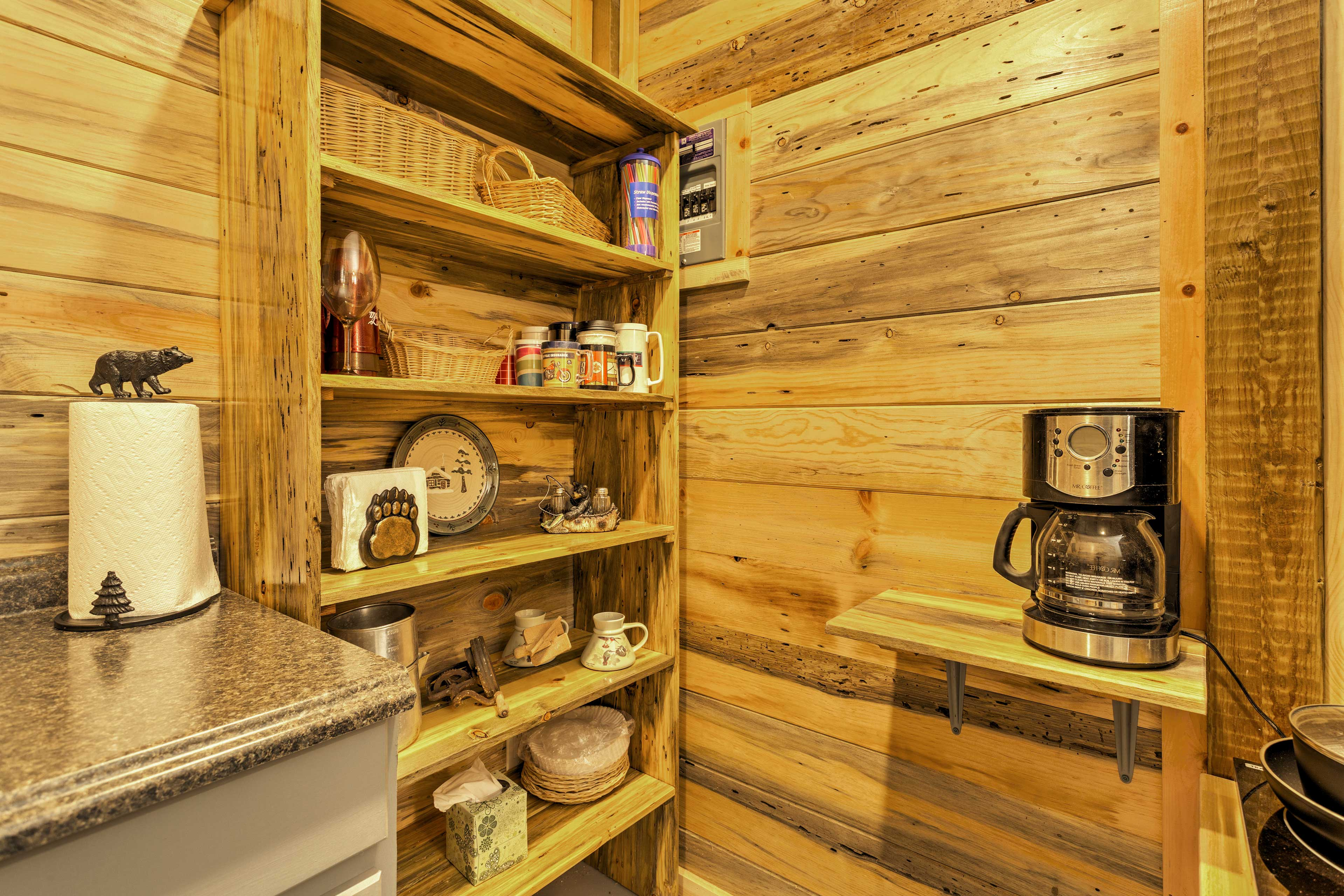 Prepare tasty snacks and meals for the group in the kitchenette.