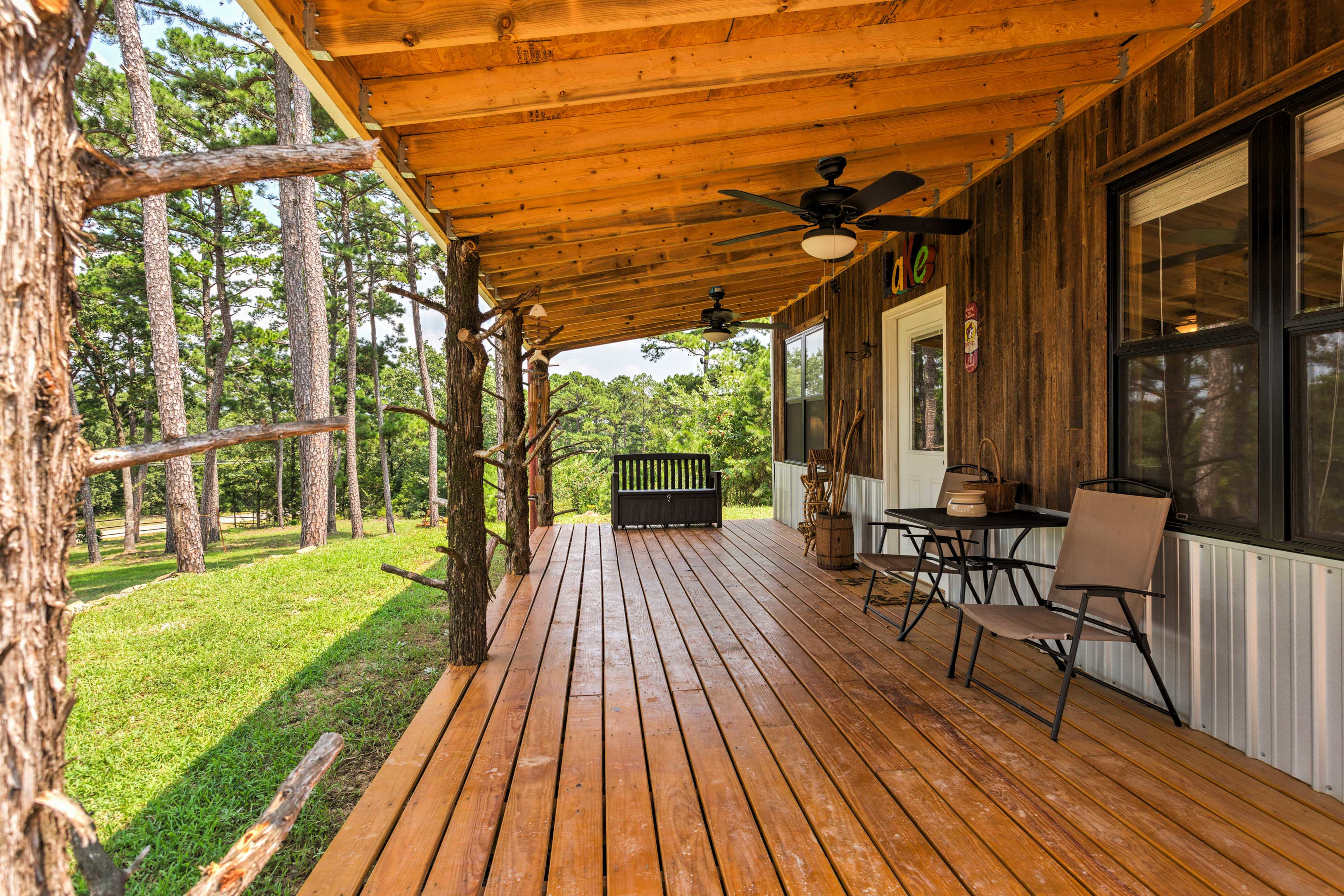 Look forward to sipping your morning coffee on the front porch while admiring the peaceful nature views.