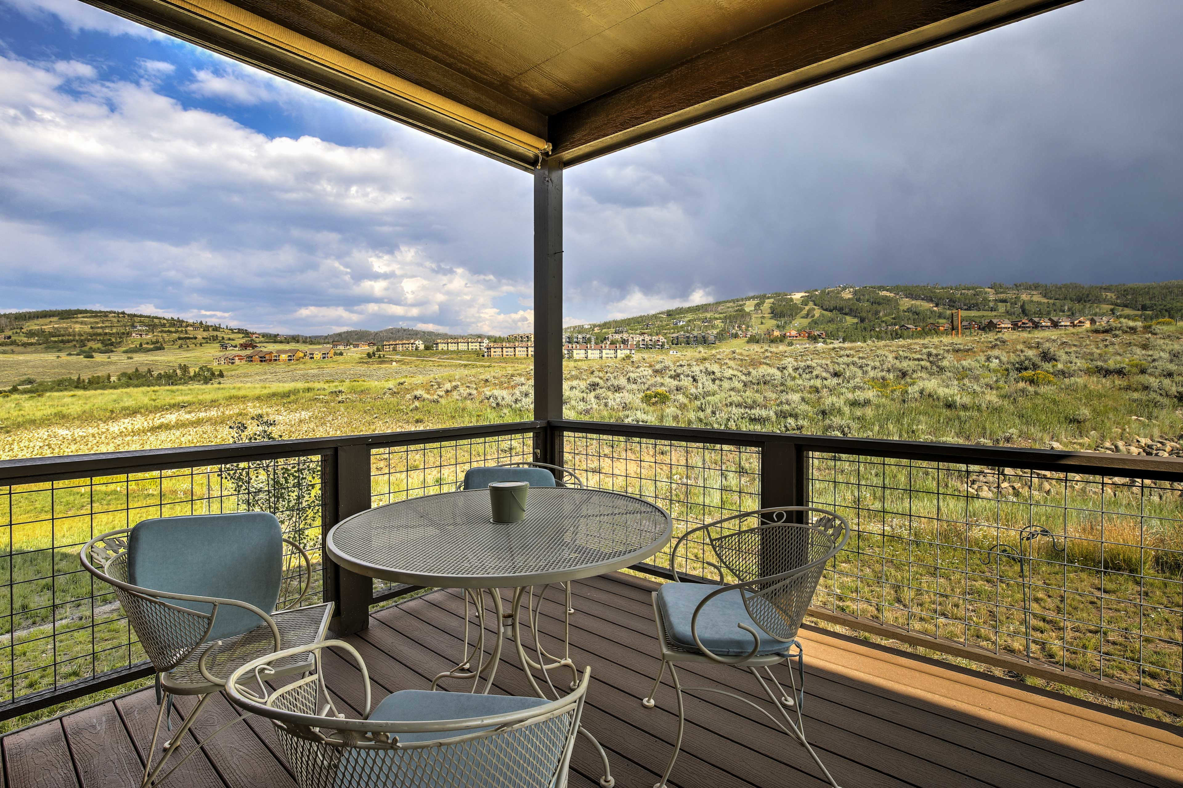 Look forward to unobstructed views of Granby Ski Mountain!