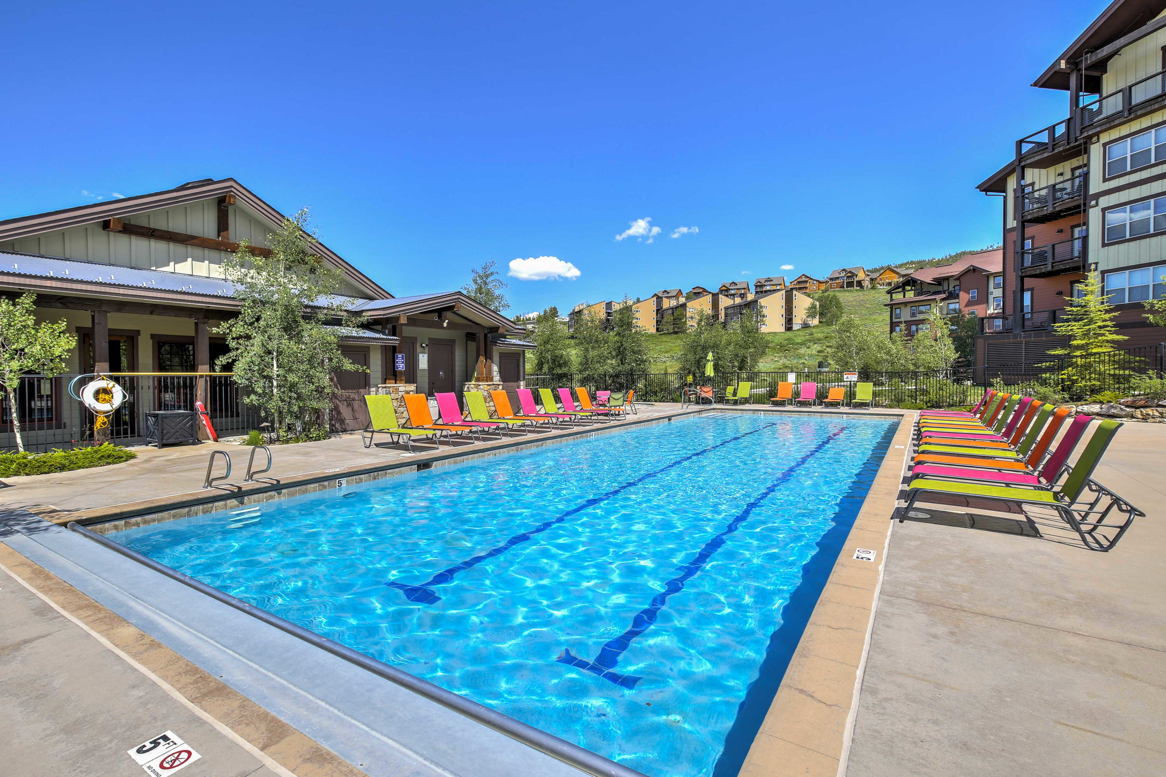Enjoy access to the Granby Ranch pool.