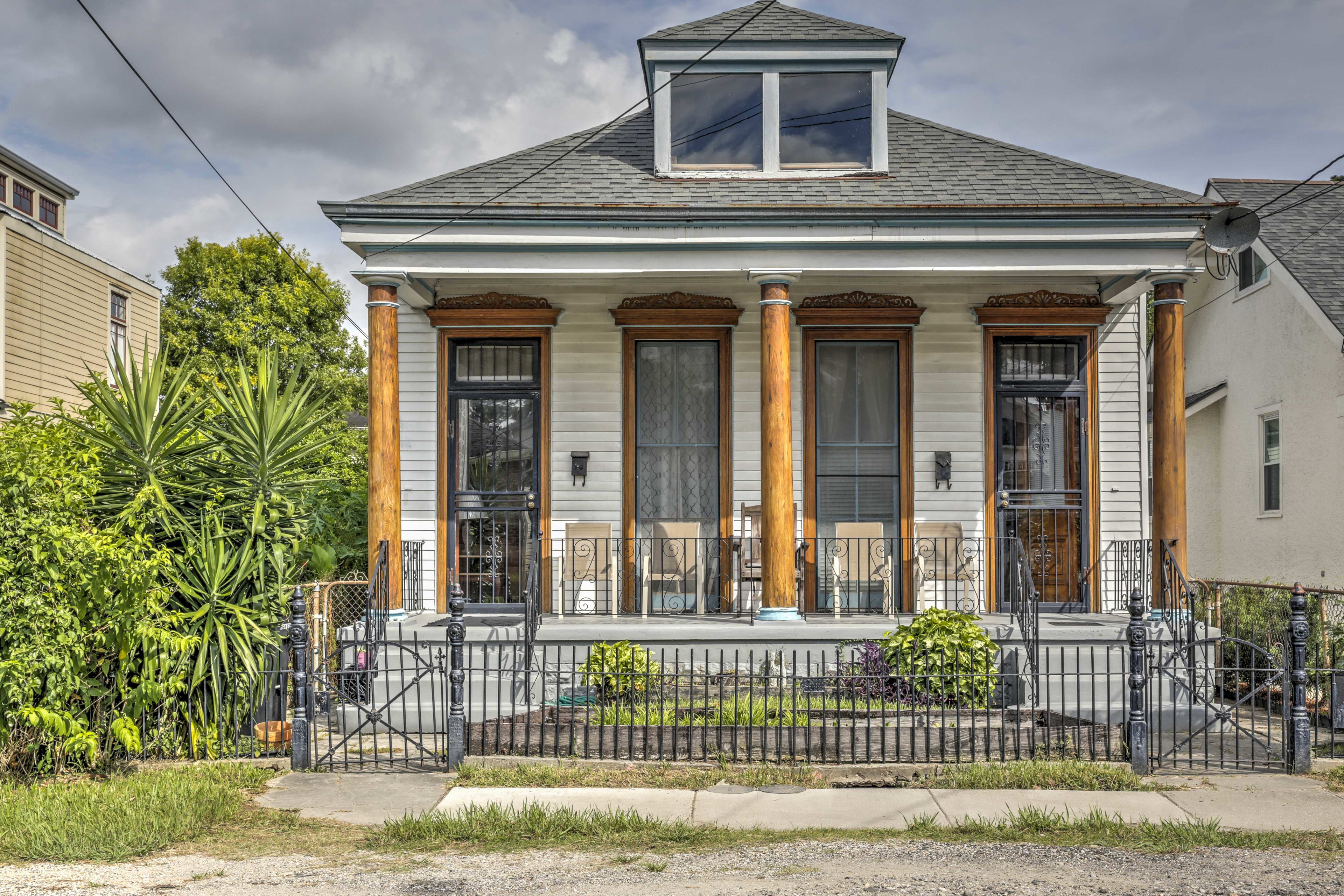 Stay in the heart of the city during your getaway at this 3-bedroom, 1-bathroom vacation rental house in New Orleans!