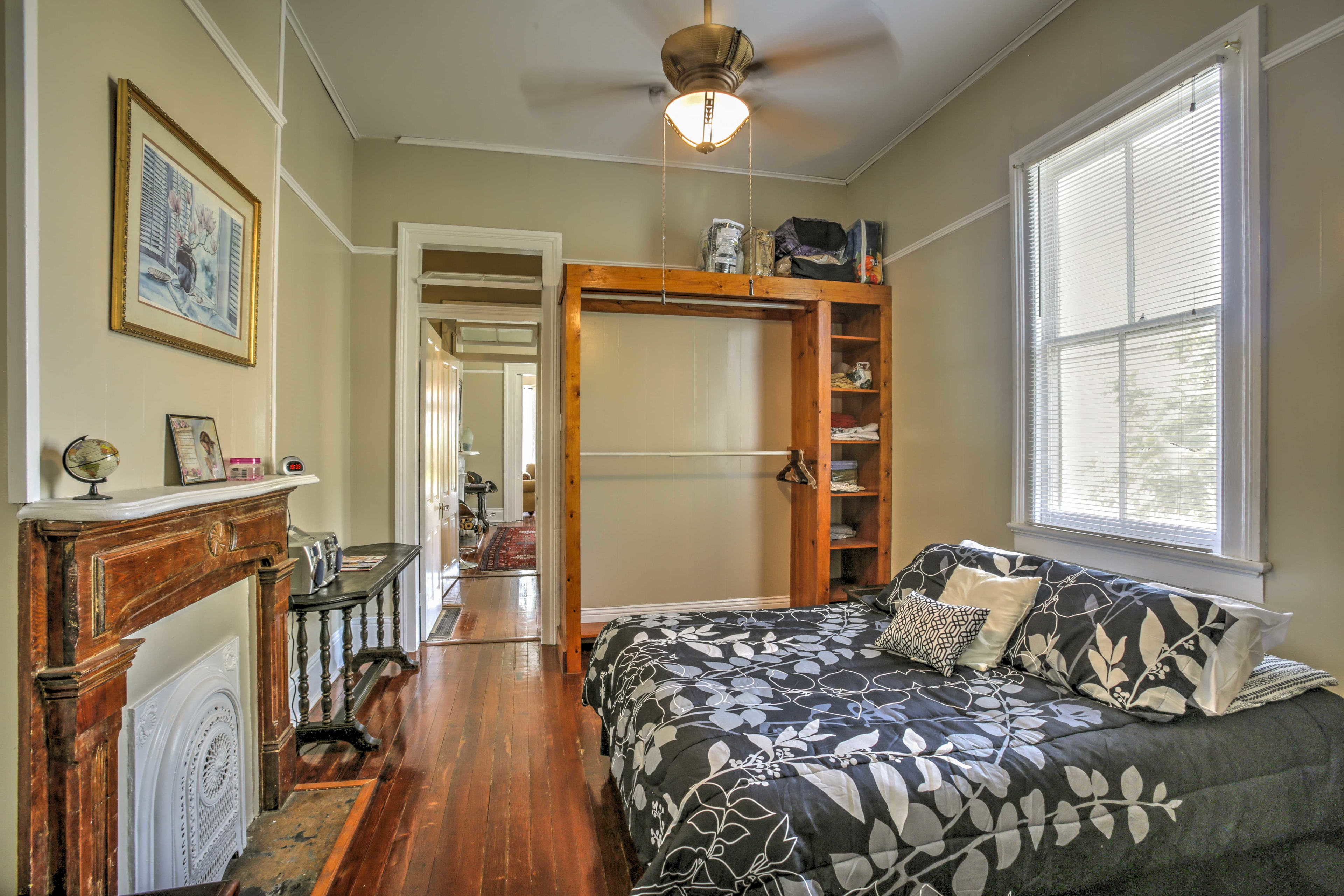 You'll find another queen-sized bed in the second bedroom.