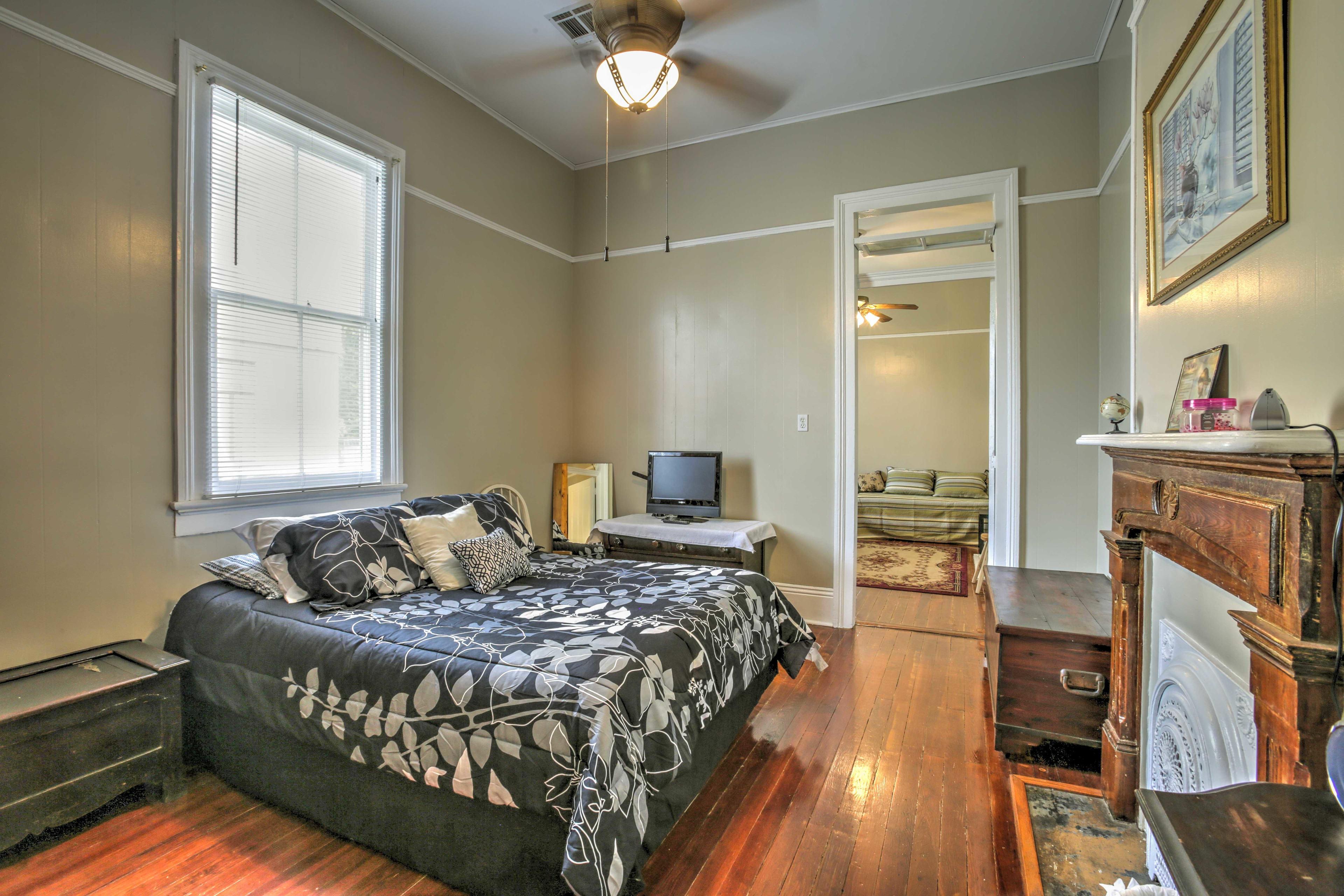 Curl up under the cozy comforter for restful slumbers.