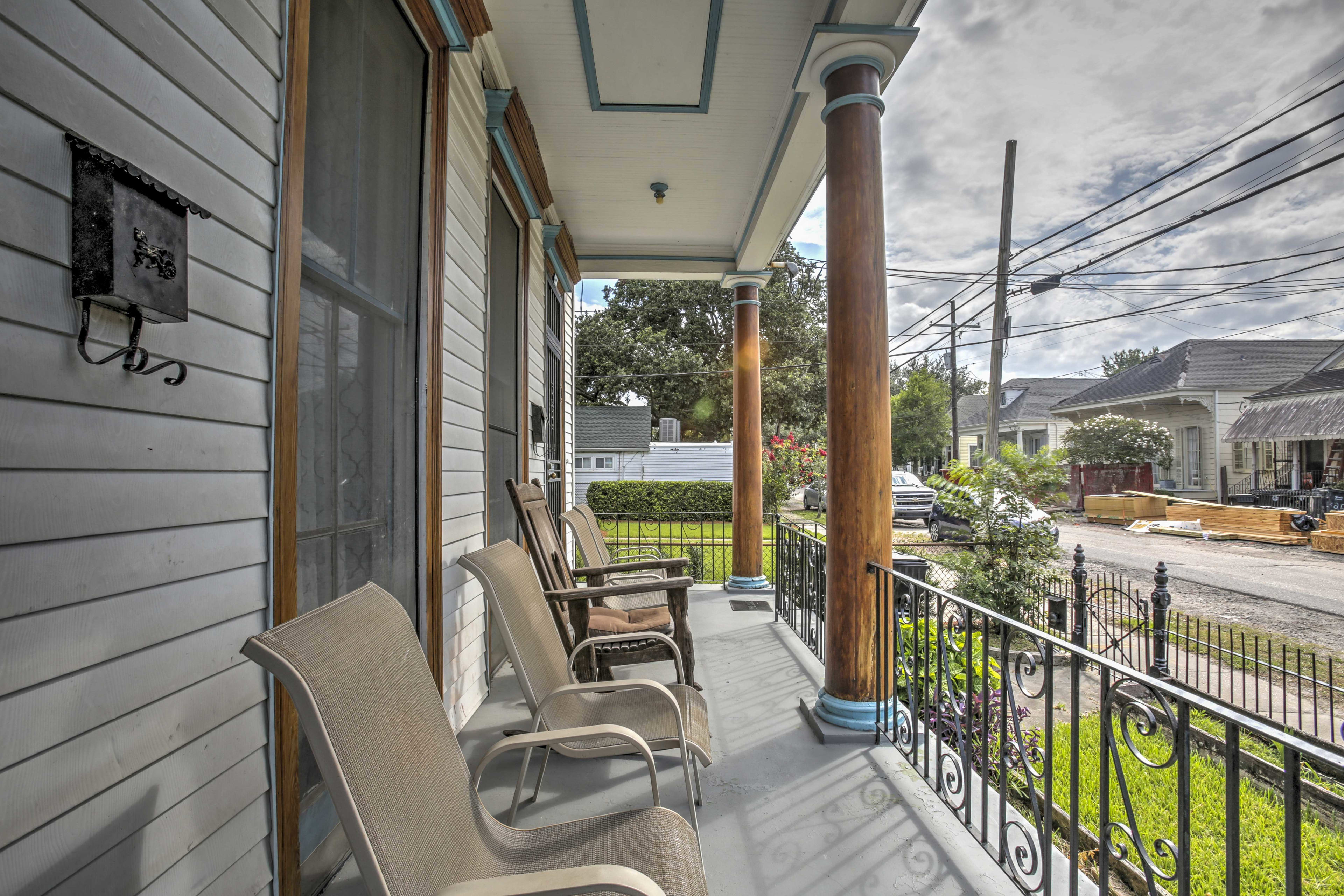 The home is located in a quiet, historic neighborhood.