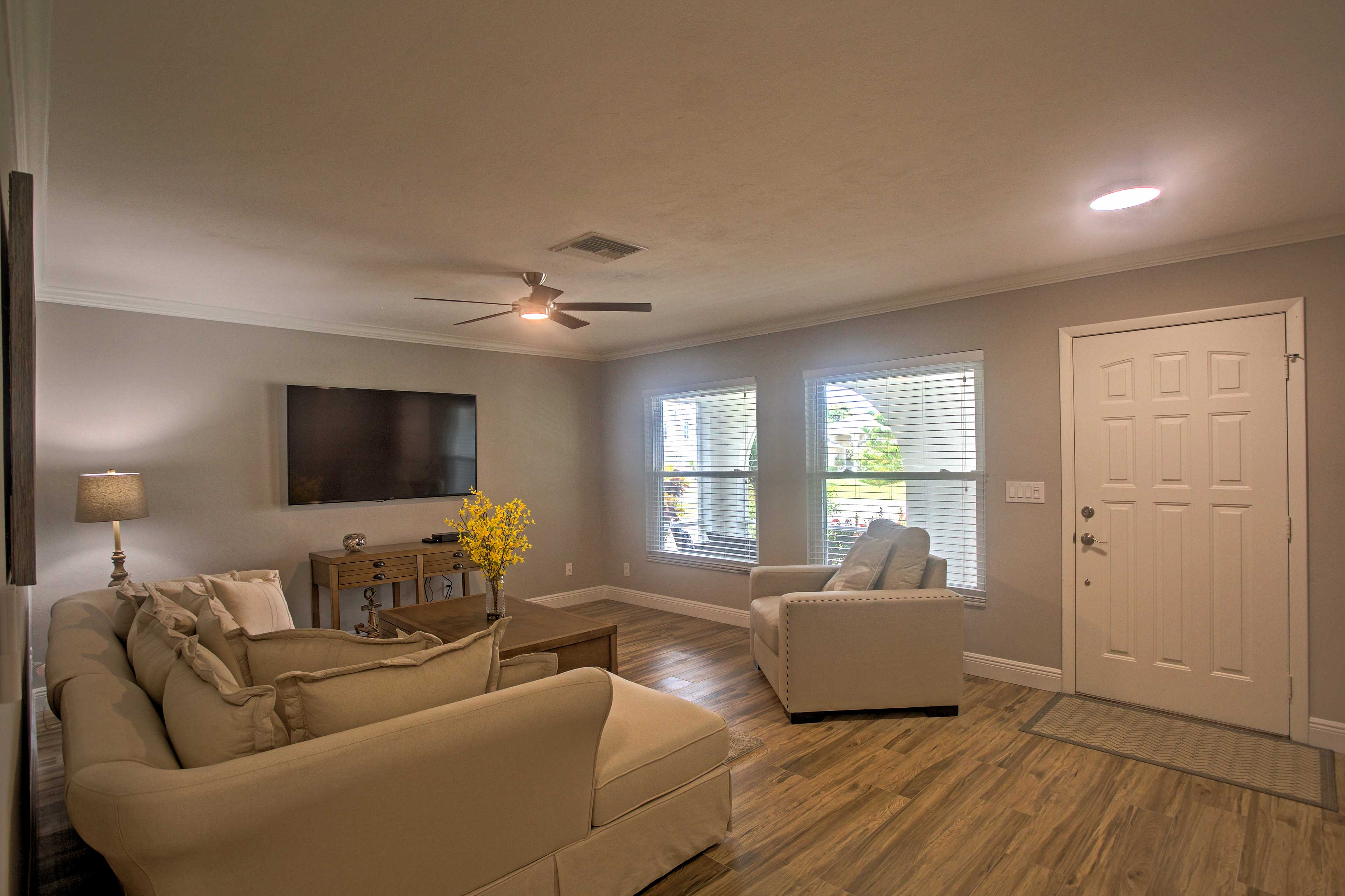 You'll love the modern feel as you enter inside your new home-away-from-home.