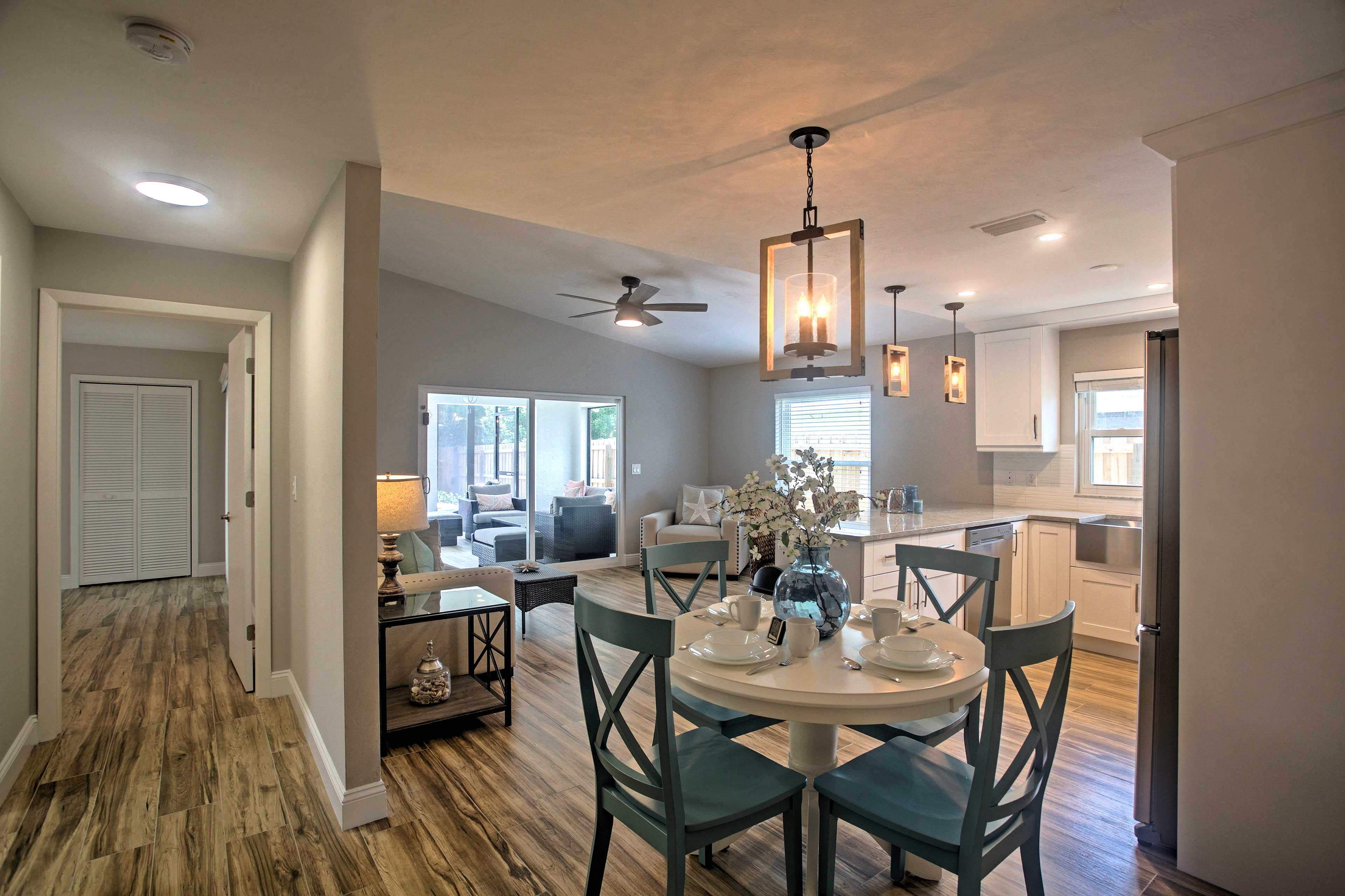 Once you've worked up a healthy appetite, head to the kitchen and dining area.