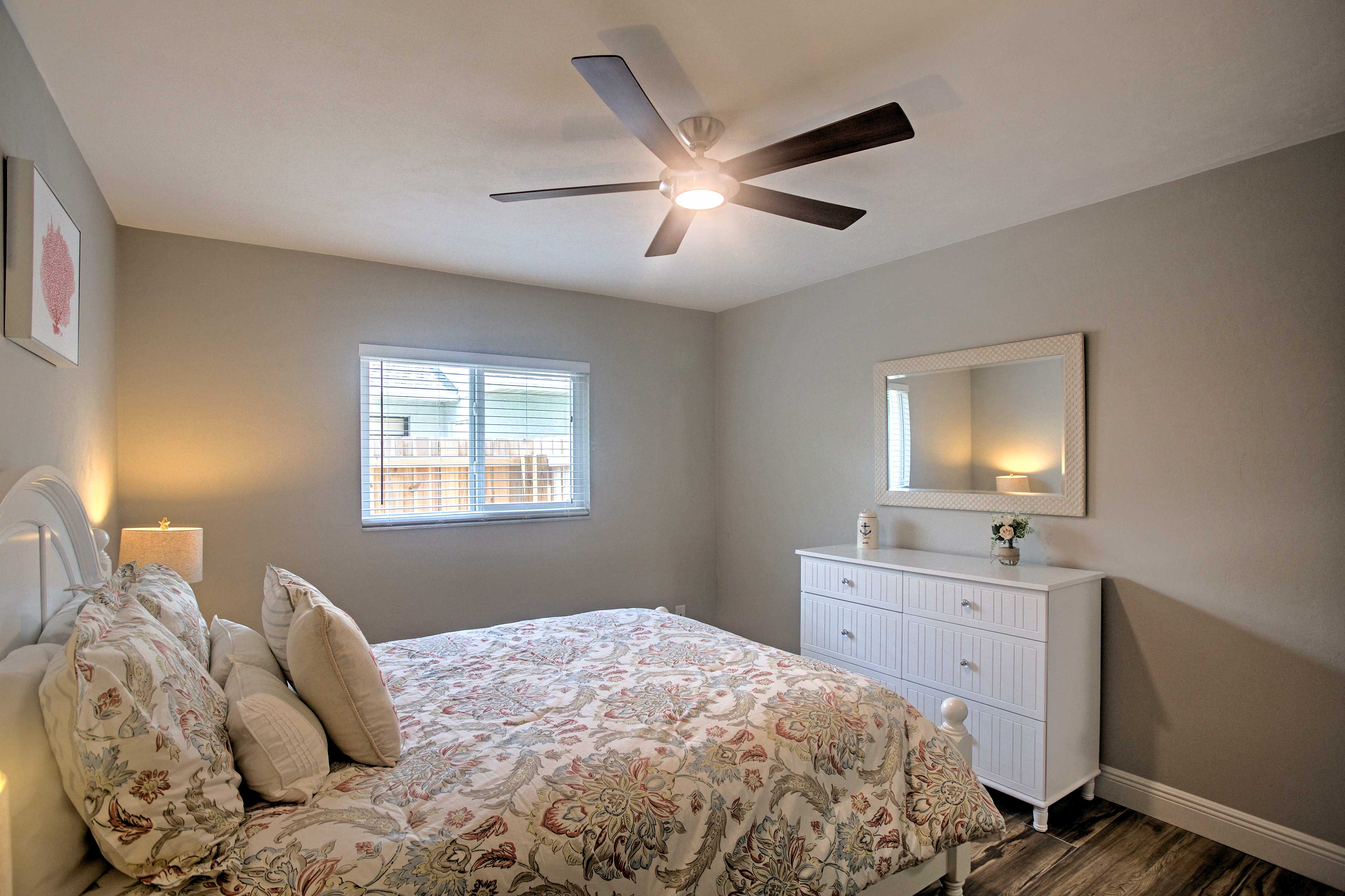 A queen bedroom in this second bedroom is perfect for a nice night of rest.
