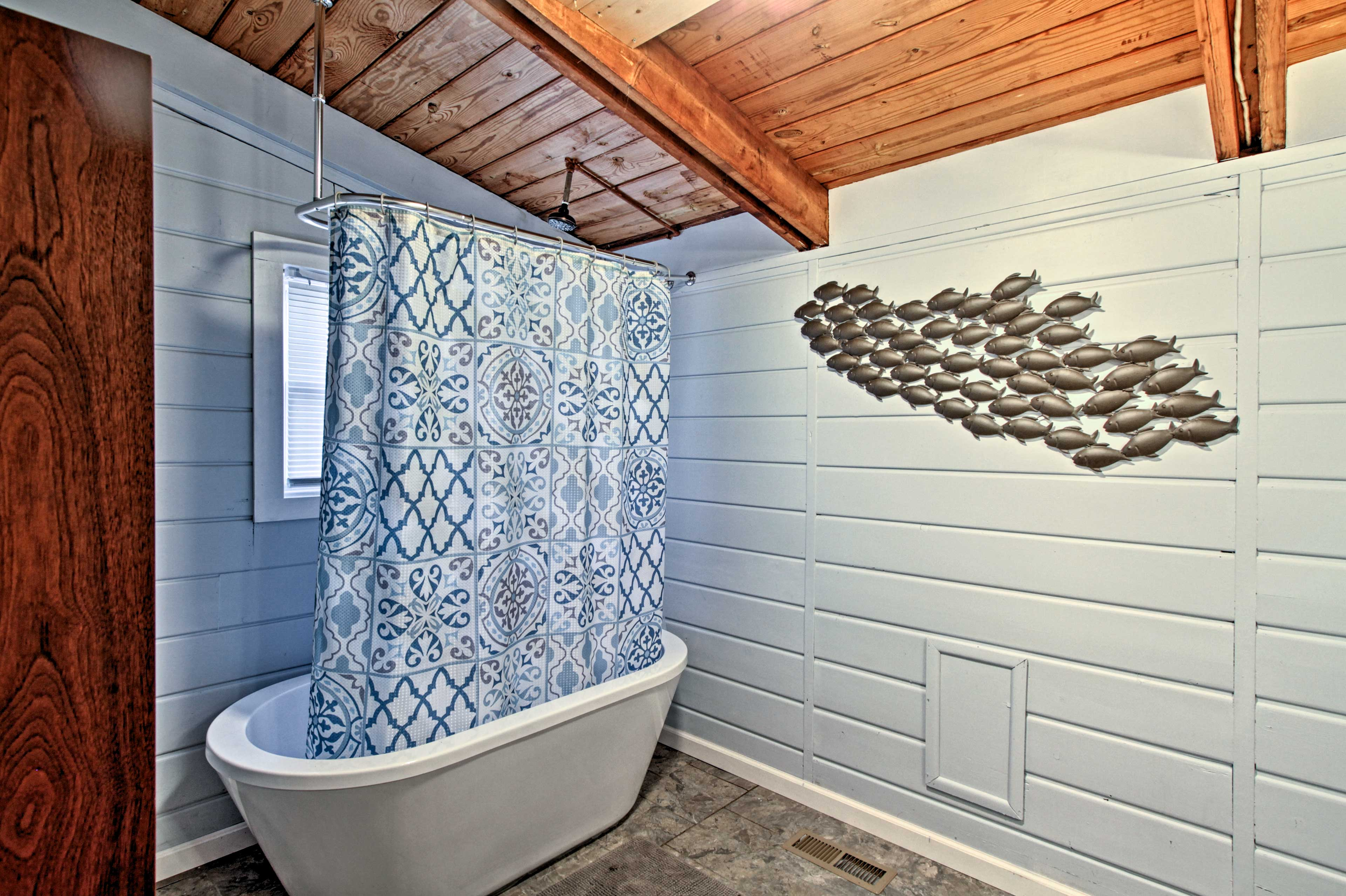 Take a long soak in the tub to relieve all your pent up stress.