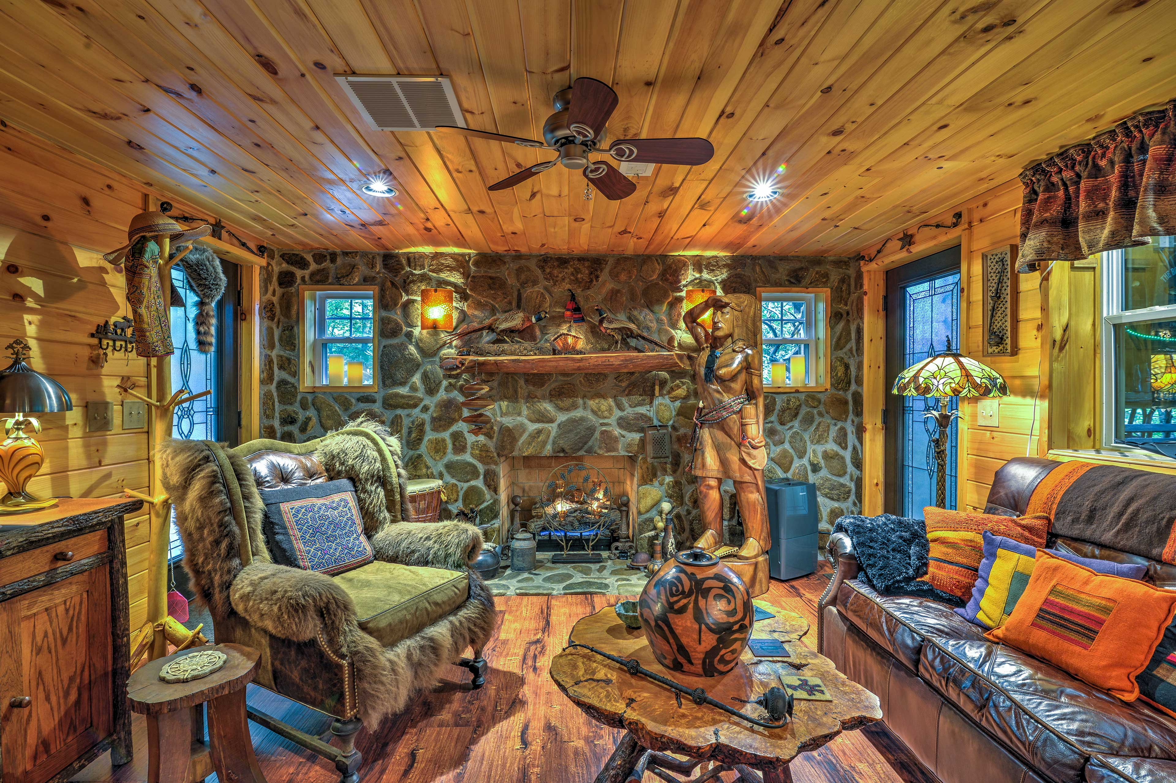 This space is filled with Cherokee-inspired influences in each room.